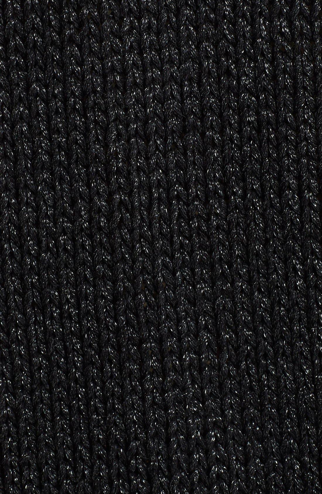 Alternate Image 3  - Trouvé Sheer Panel V-Neck Sweater