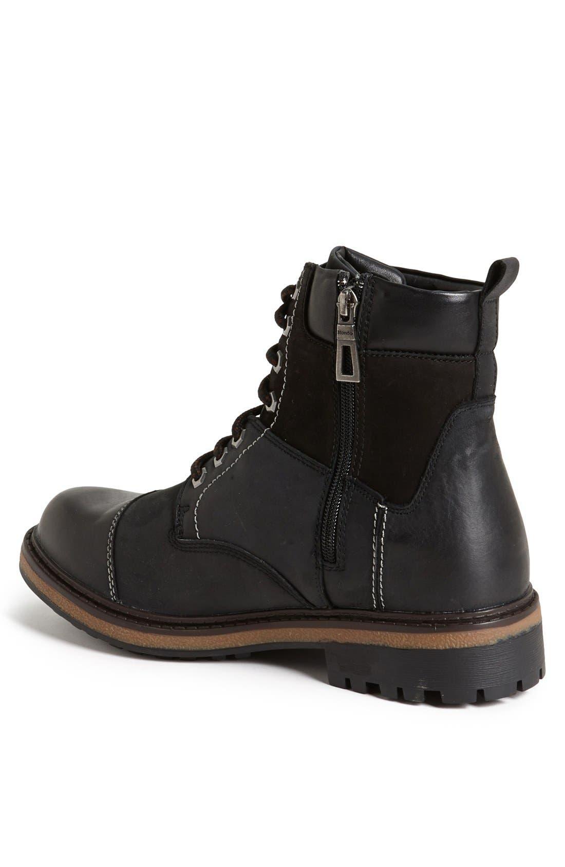 'Jaro' Waterproof Boot,                             Alternate thumbnail 2, color,                             Black