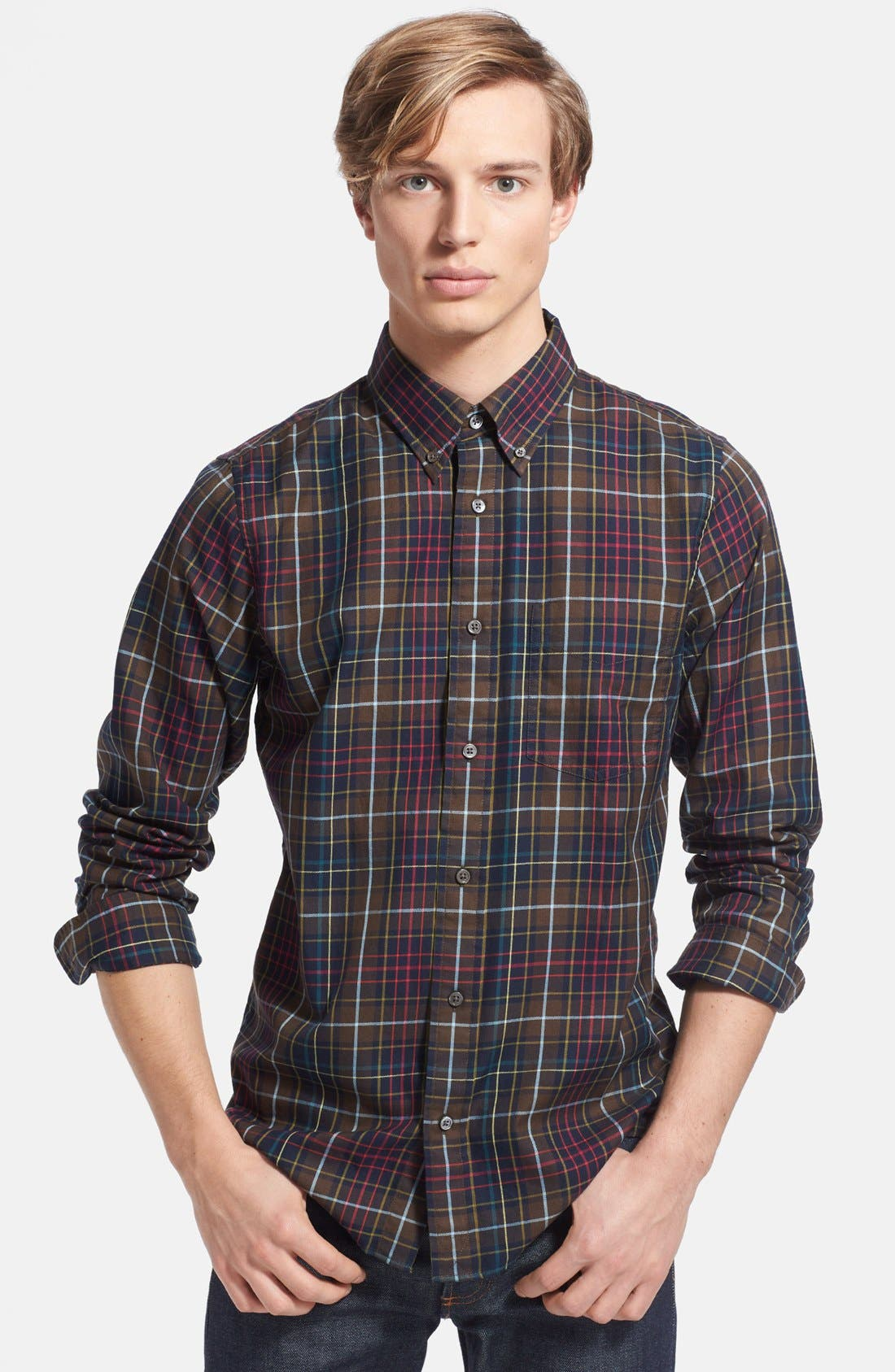 Alternate Image 1 Selected - Jack Spade 'Thetford' Plaid Shirt