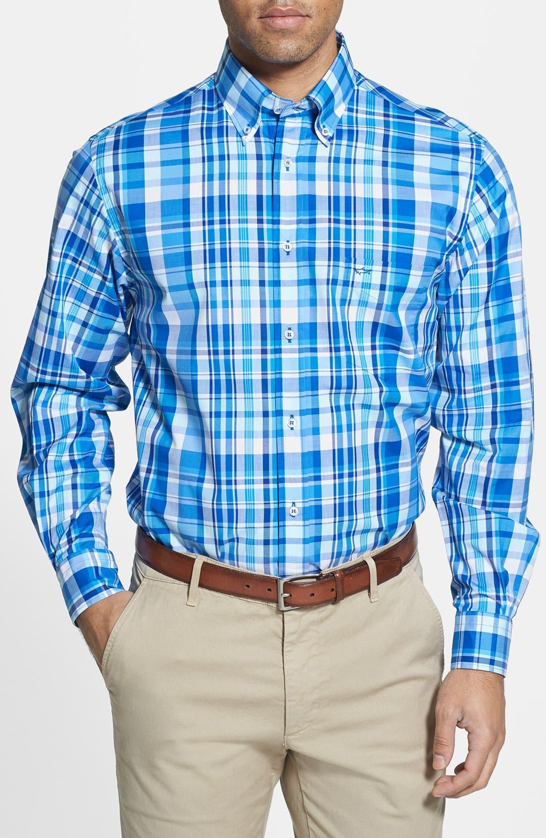 Alternate Image 1 Selected - Paul & Shark Plaid Classic Fit Sport Shirt