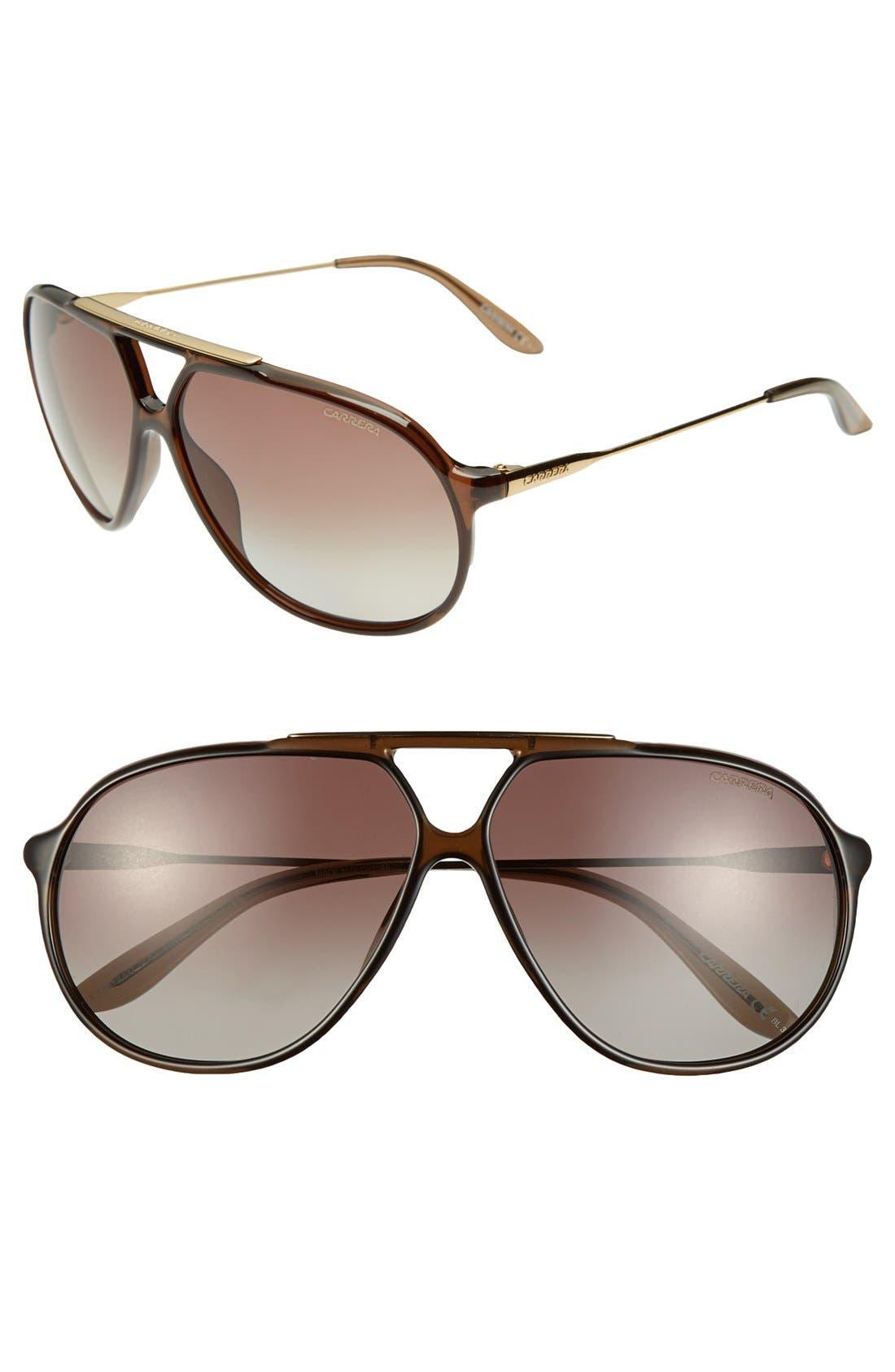 Alternate Image 1 Selected - Carrera Eyewear 64mm Polarized Sunglasses