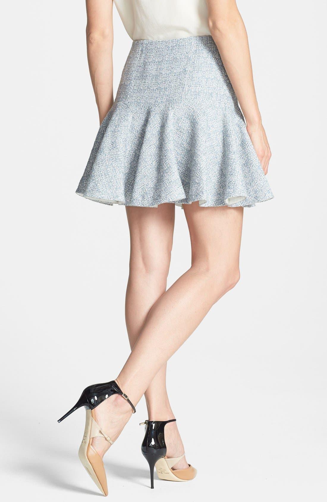 Alternate Image 2  - Rebecca Taylor Dual Zip Tweed Skirt
