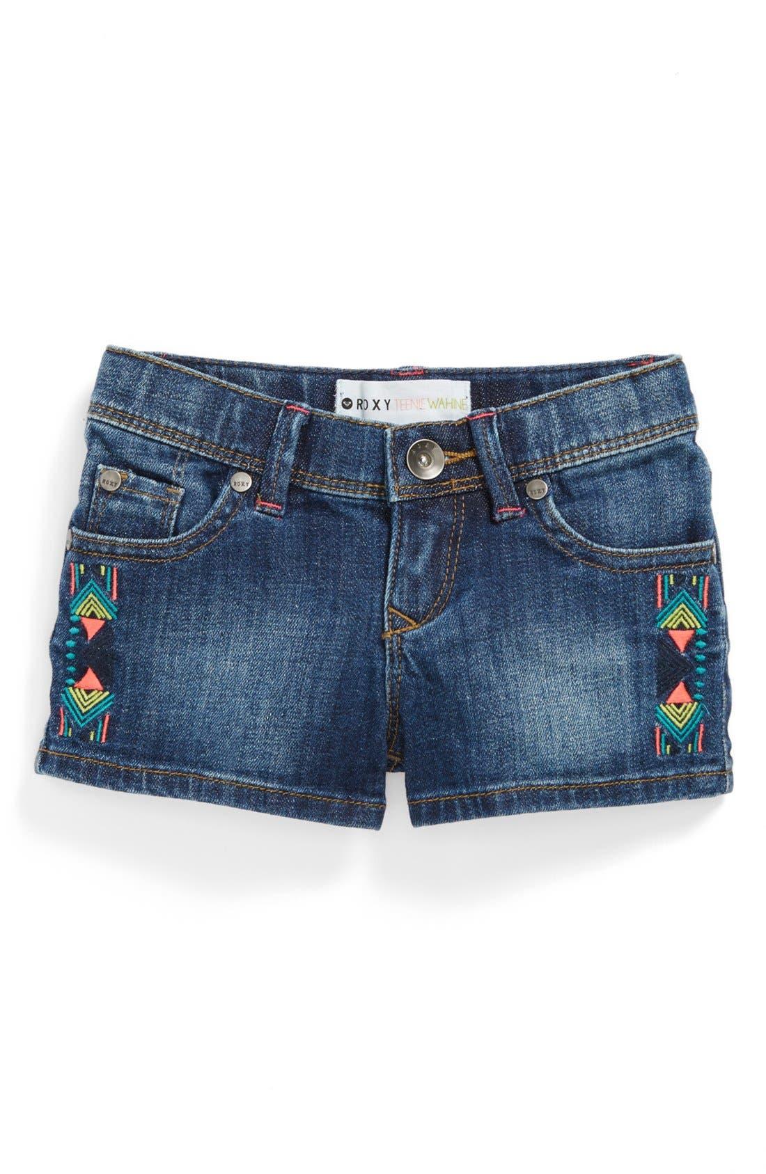 Main Image - Roxy 'Lisy' Shorts (Toddler Girls)