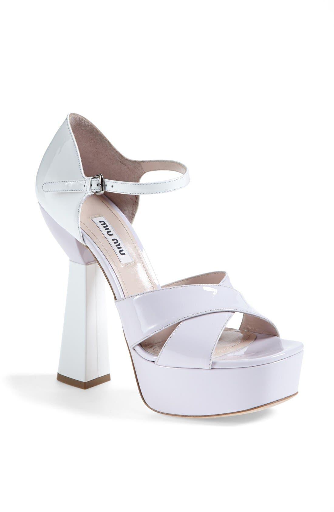 Alternate Image 1 Selected - Miu Miu Mary Jane Platform Sandal