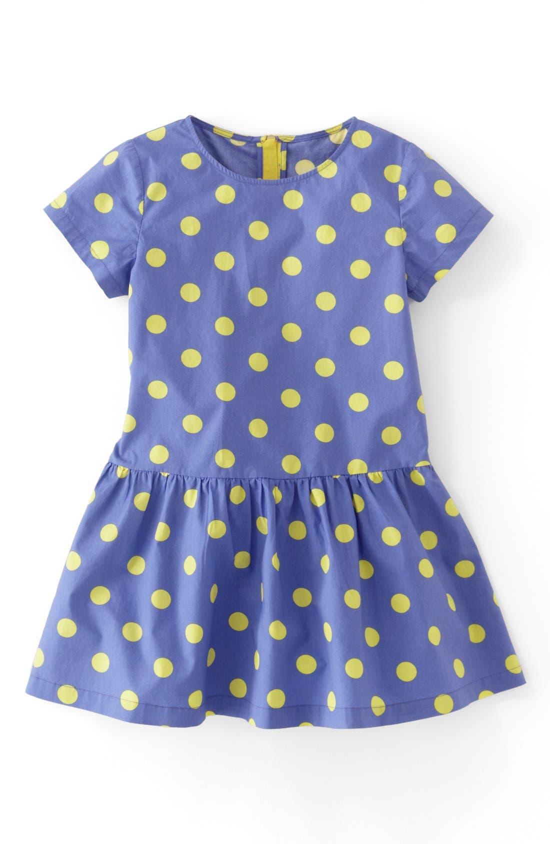 Main Image - Mini Boden 'Spotty' Dress (Little Girls & Big Girls)