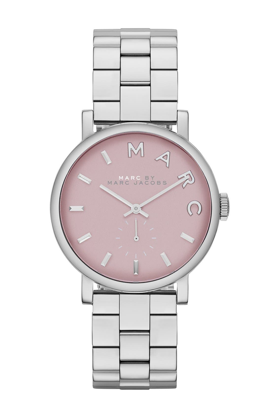 Main Image - MARC JACOBS 'Small Baker' Bracelet Watch, 28mm