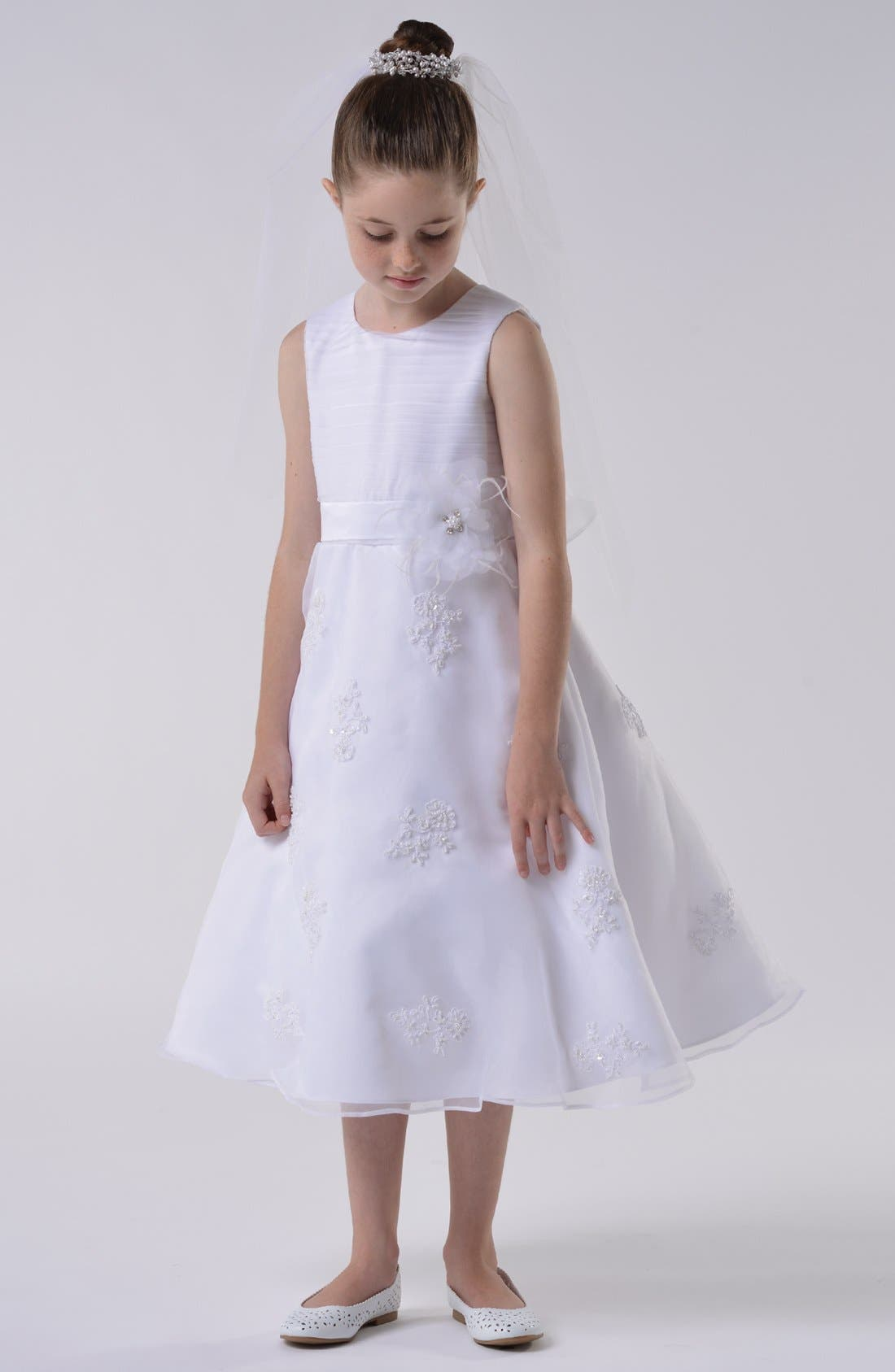Main Image - Us Angels Communion Dress (Little Girls & Big Girls)