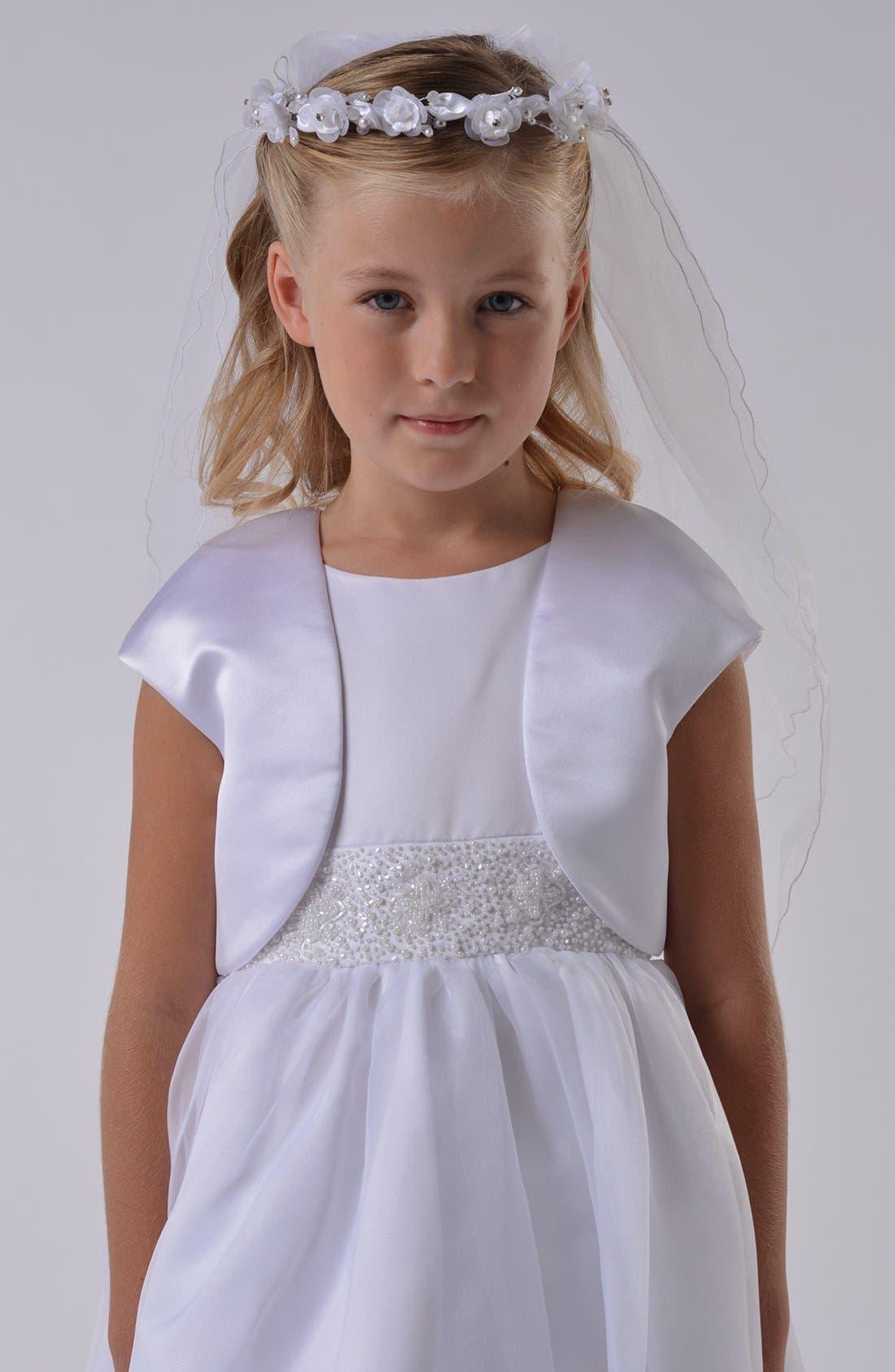 Us Angels Communion Satin Bolero (Little Girls & Big Girls)