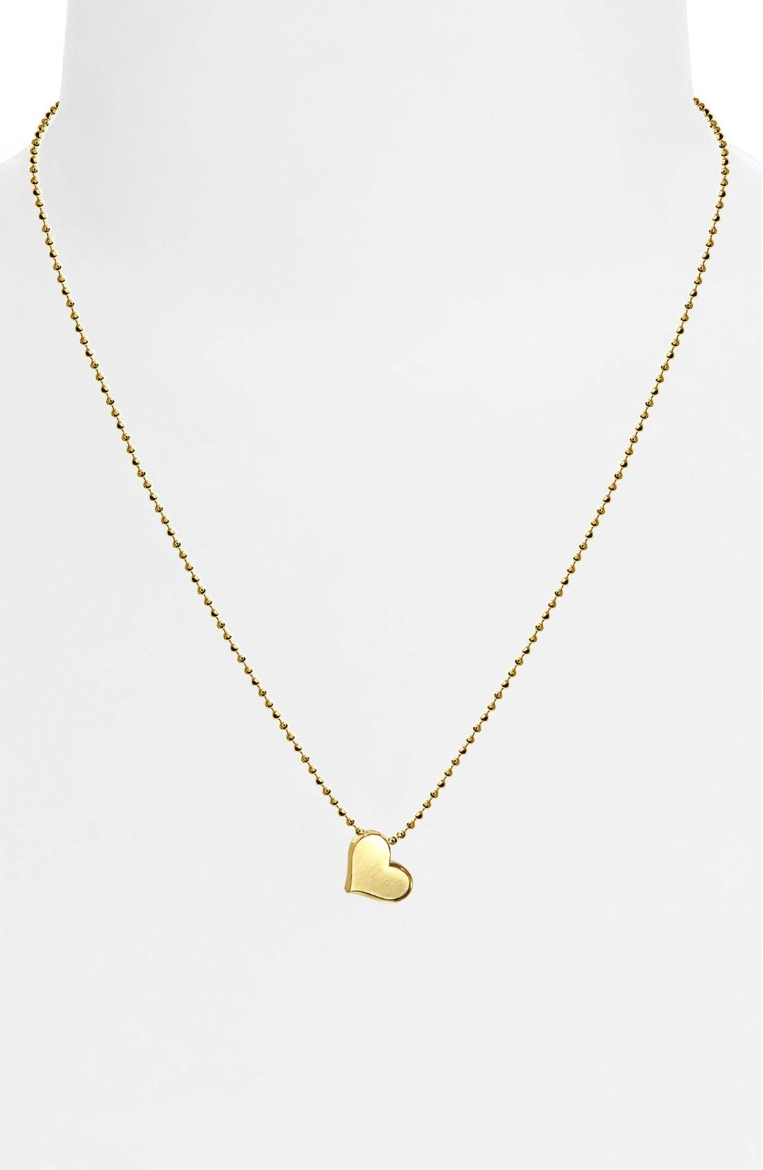 Alternate Image 2  - Alex Woo 'Little Princess' Heart Pendant Necklace