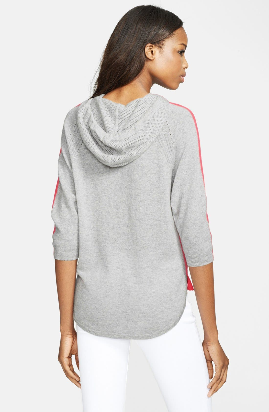 Alternate Image 2  - autumn cashmere Colorblock Cashmere Hoodie
