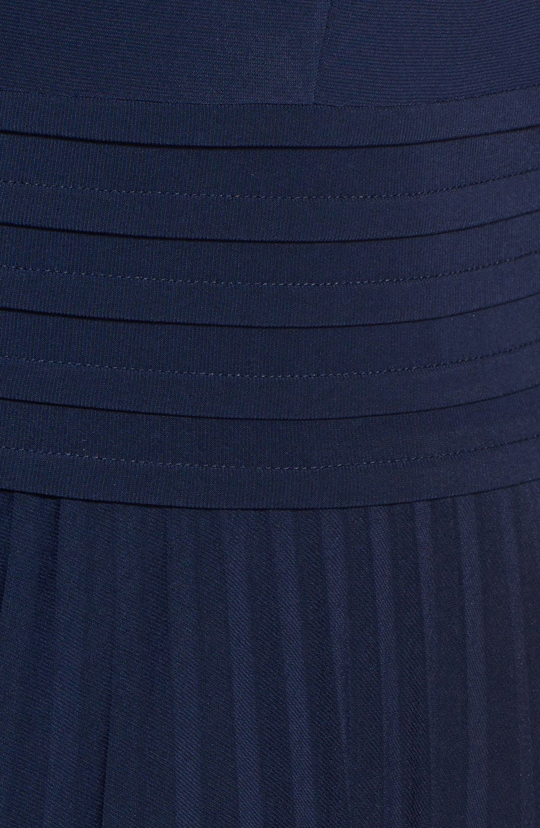 Alternate Image 4  - Eliza J Pleated Stretch Woven Dress