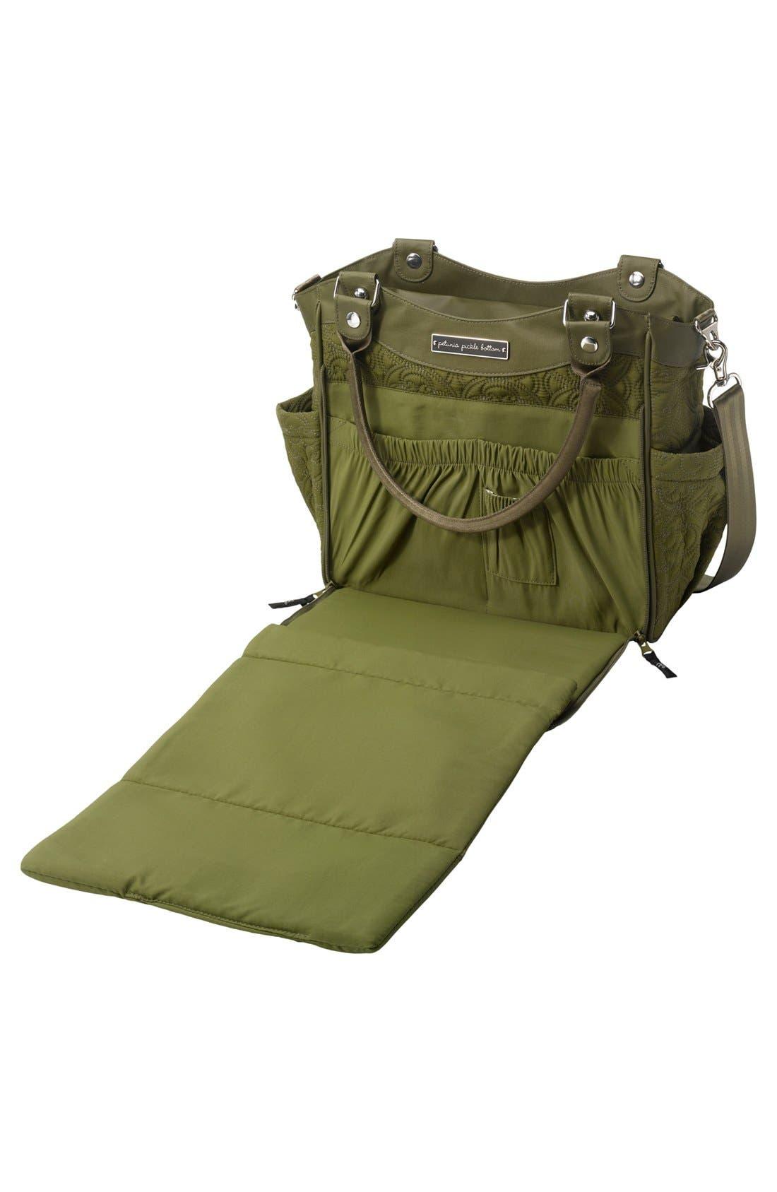 Alternate Image 3  - Petunia Pickle Bottom 'City Carryall' Embossed Diaper Bag