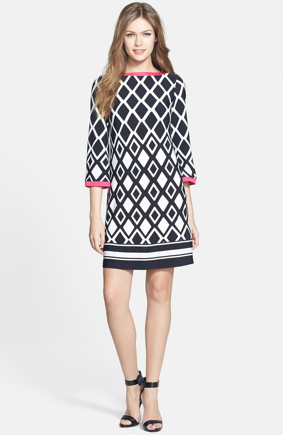 Alternate Image 2  - Eliza J Print Stretch Jersey Shift Dress
