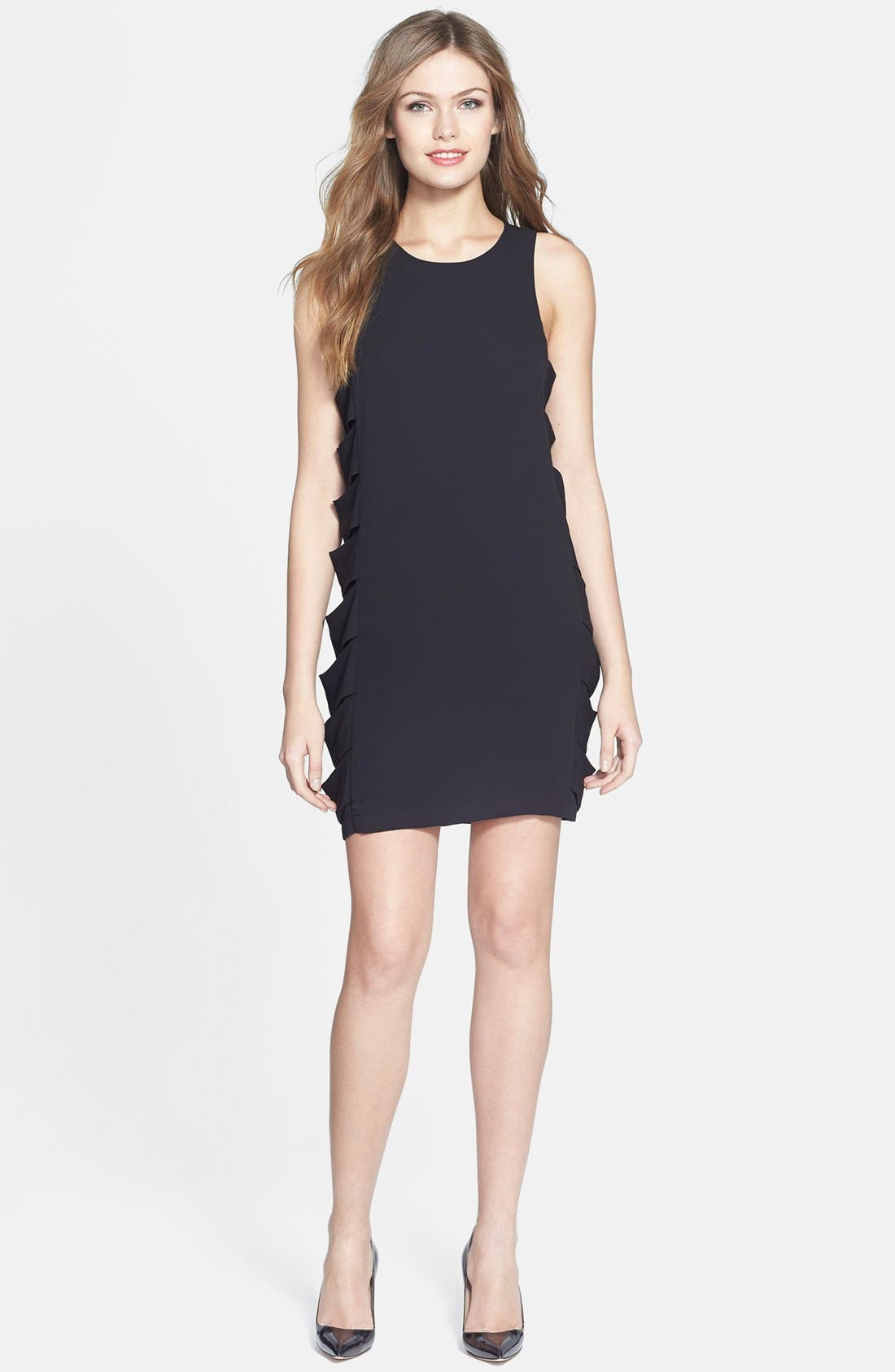 Alternate Image 2  - BCBGMAXAZRIA 'Eren' Side Slash Georgette Dress