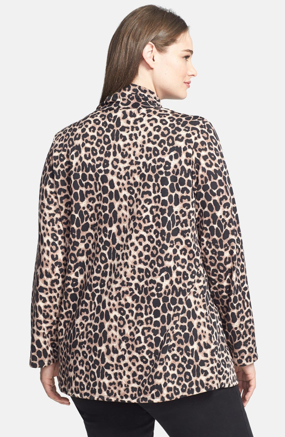 Alternate Image 2  - Bobeau Animal Print Fleece Wrap (Plus Size)