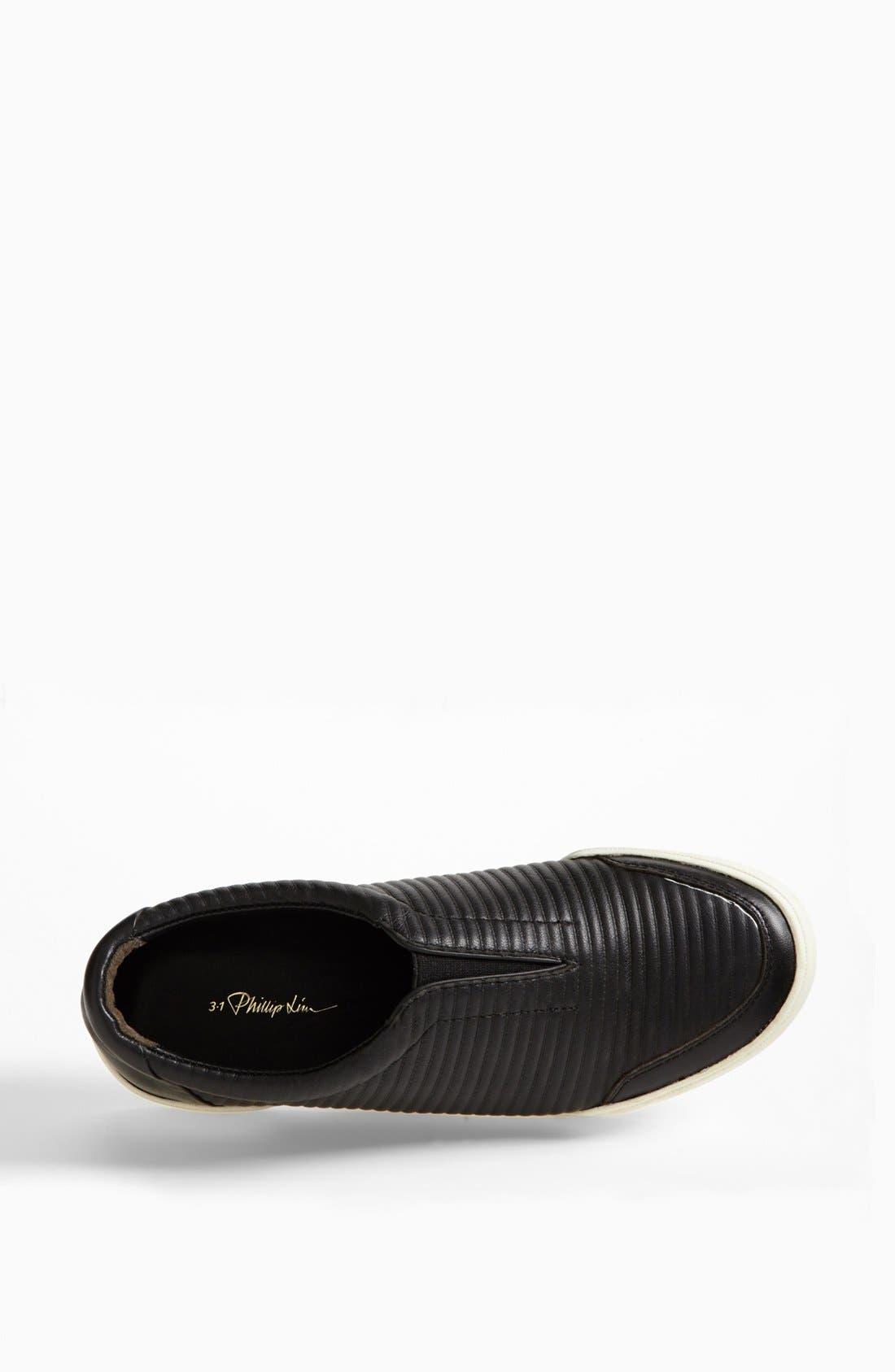 'Morgan' Slip-On Sneaker,                             Alternate thumbnail 3, color,                             Black