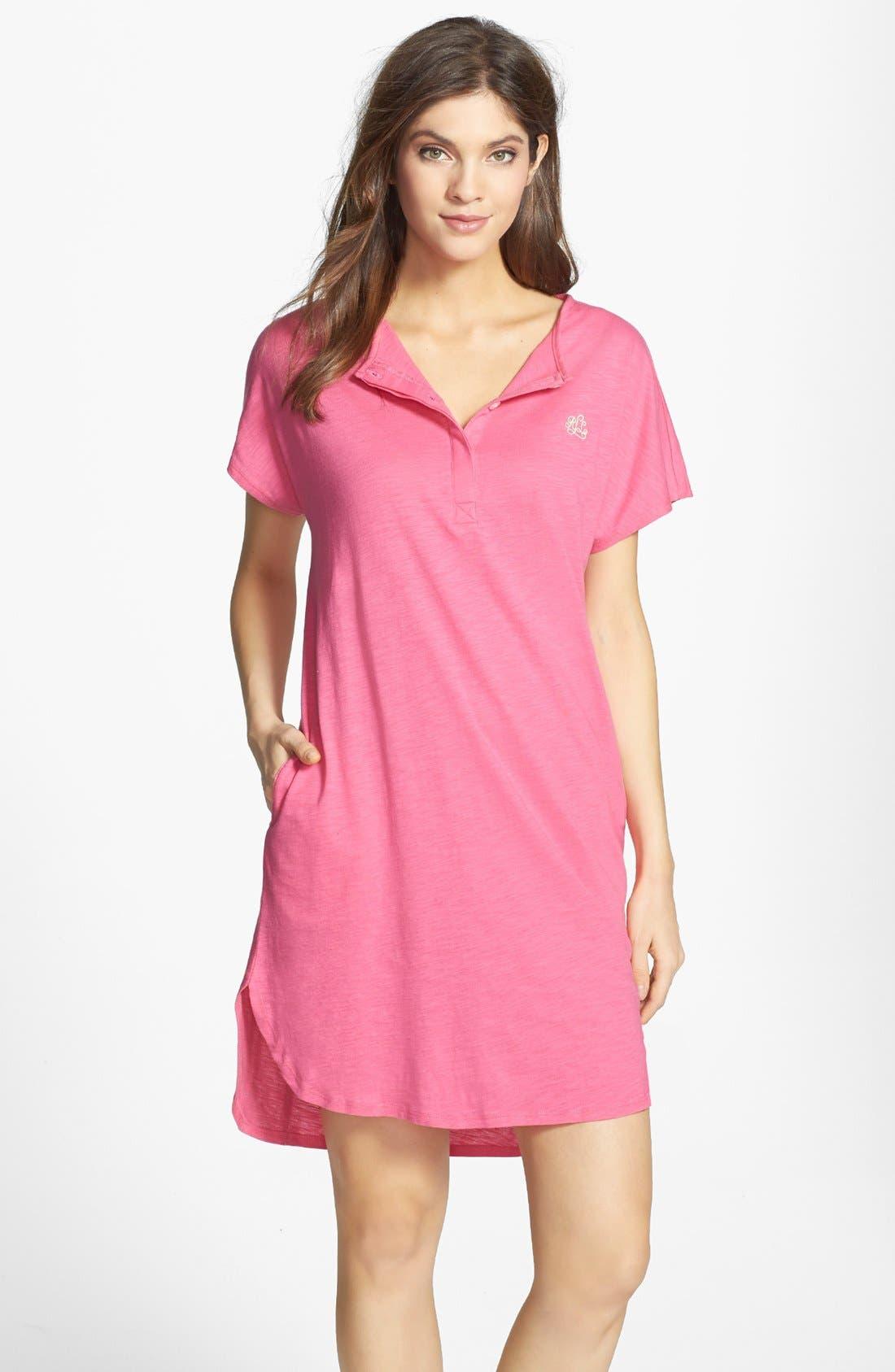 Main Image - Lauren Ralph Lauren Knit Jersey Sleep Shirt