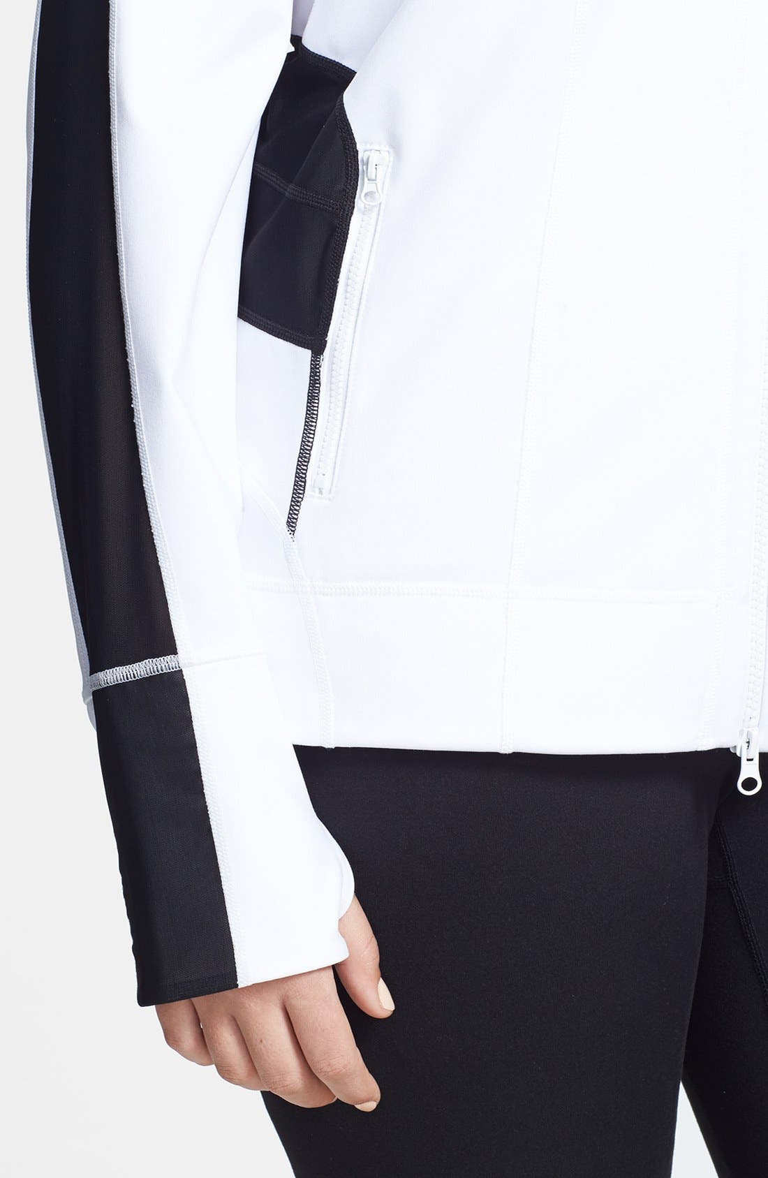 Alternate Image 7  - Zella 'Bliss' Colorblock Jacket (Plus Size)