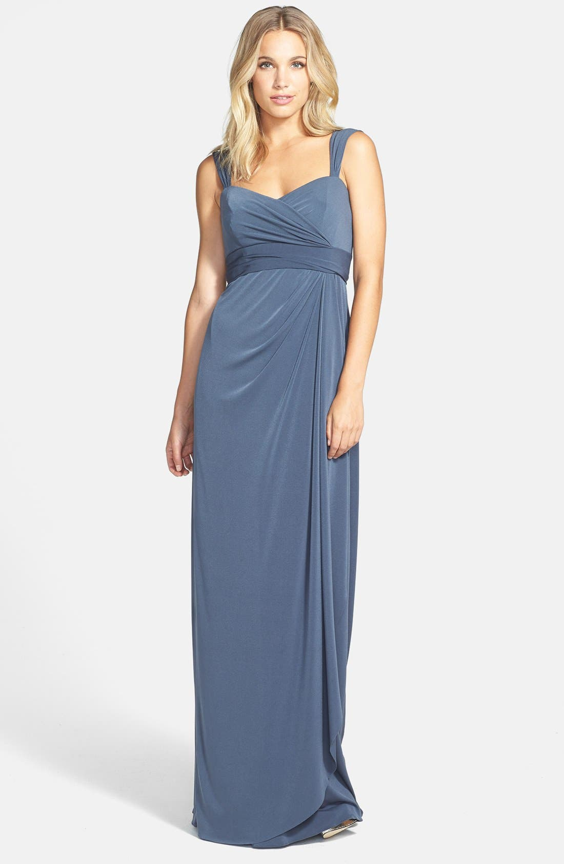 Main Image - Amsale Ruched Jersey Dress