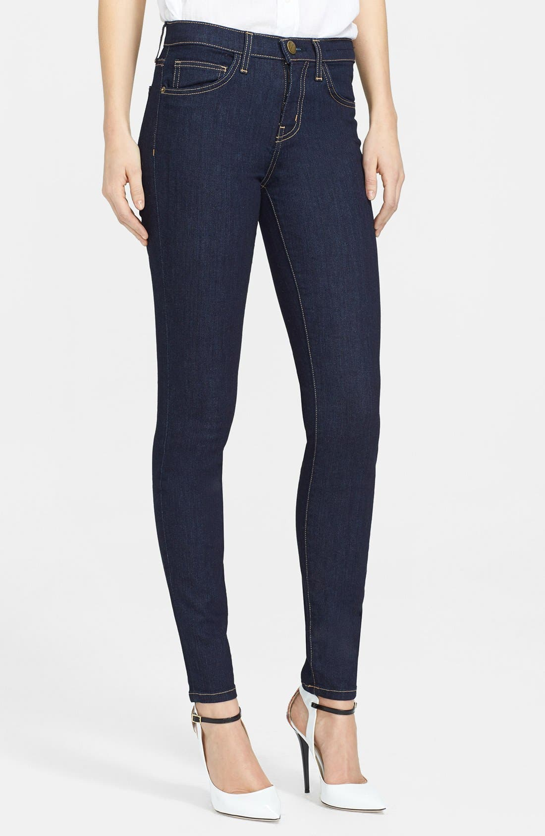 Alternate Image 1 Selected - Current/Elliott 'The High Waist' Skinny Jeans (Rinse) (Nordstrom Exclusive)