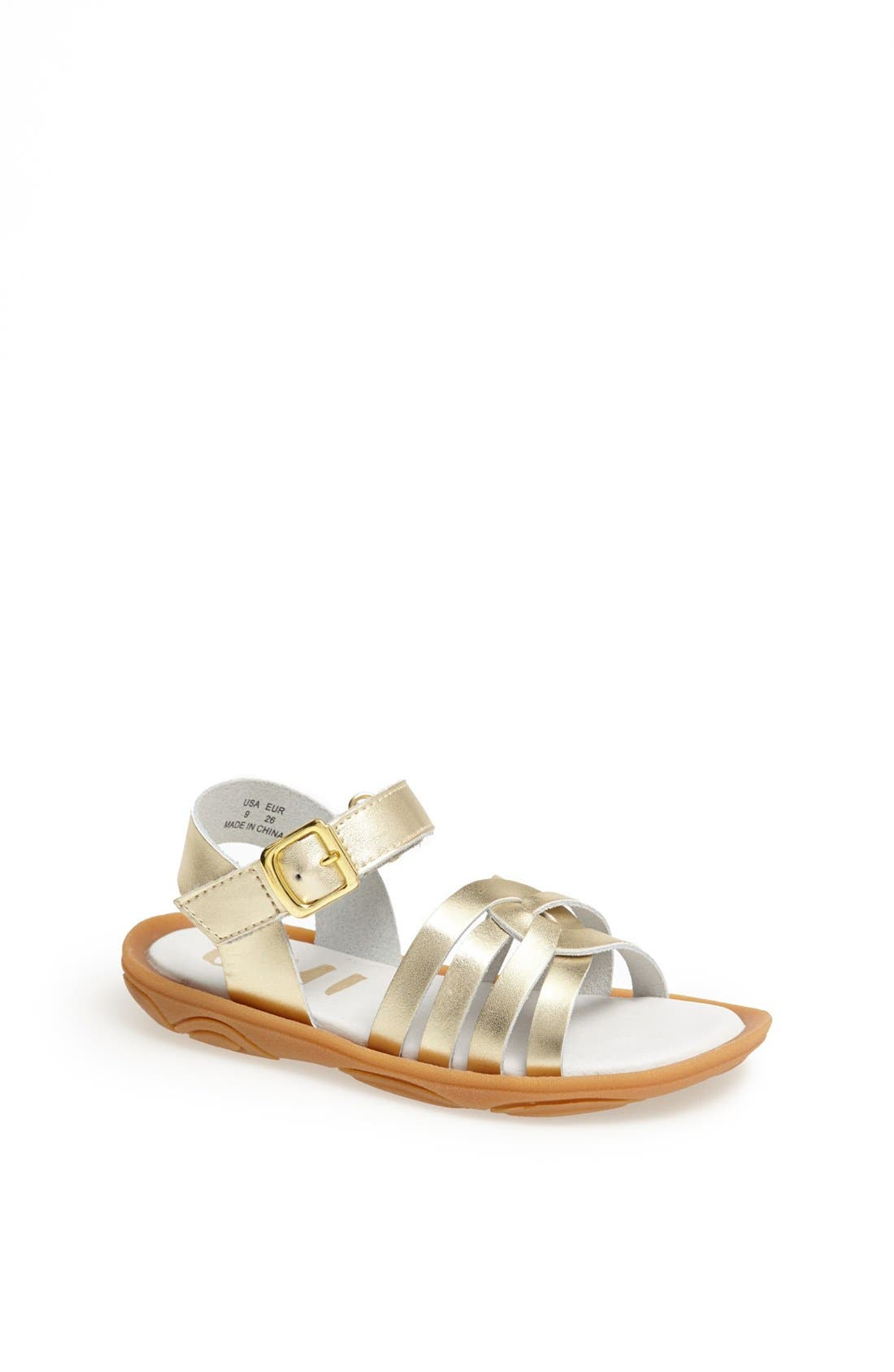 Alternate Image 1 Selected - Umi 'Cora' Ankle Strap Sandal (Walker, Toddler & Little Kid)