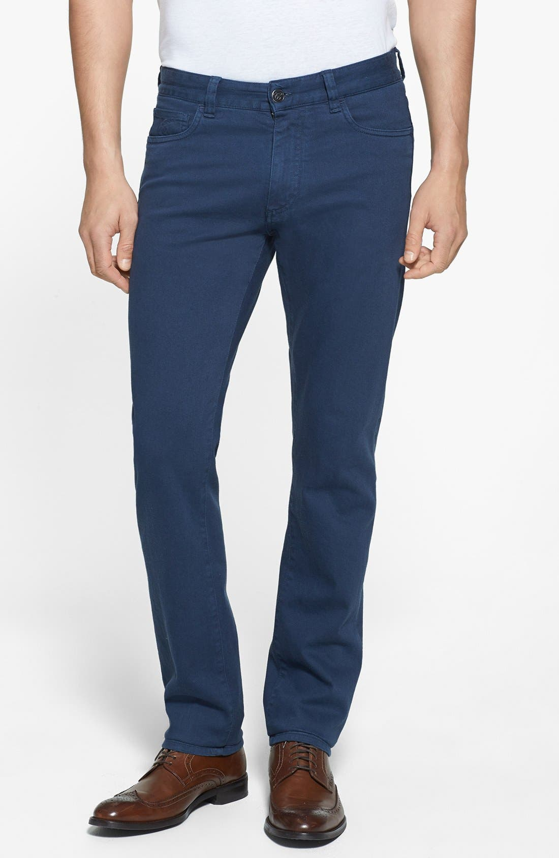 Alternate Image 1 Selected - Canali Stretch Cotton Pants