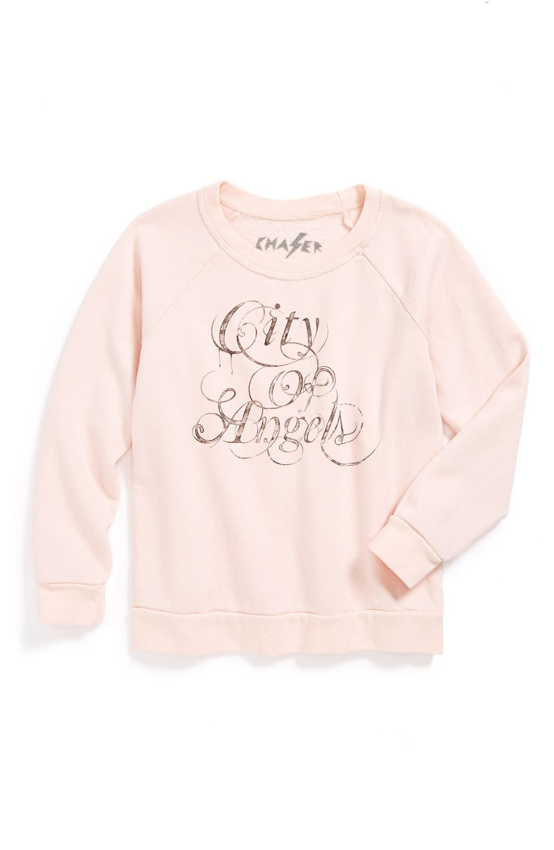 Alternate Image 1 Selected - Chaser 'City of Angels' Sweatshirt (Little Girls & Big Girls)