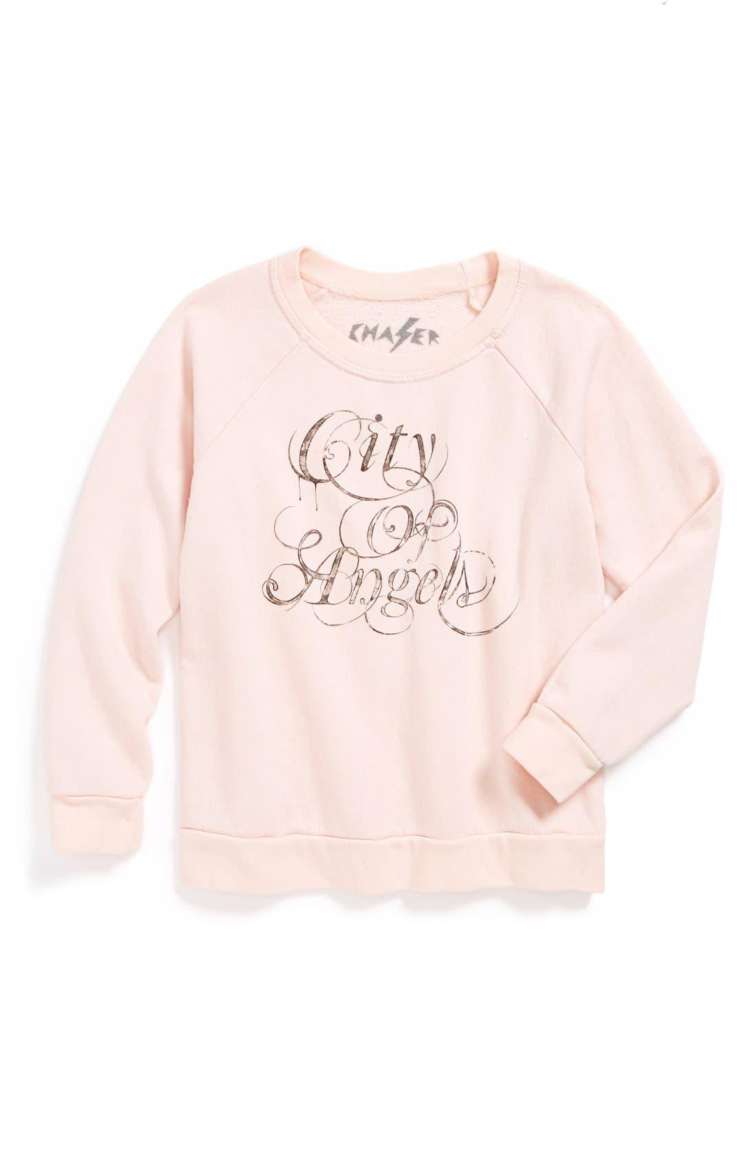 Main Image - Chaser 'City of Angels' Sweatshirt (Little Girls & Big Girls)