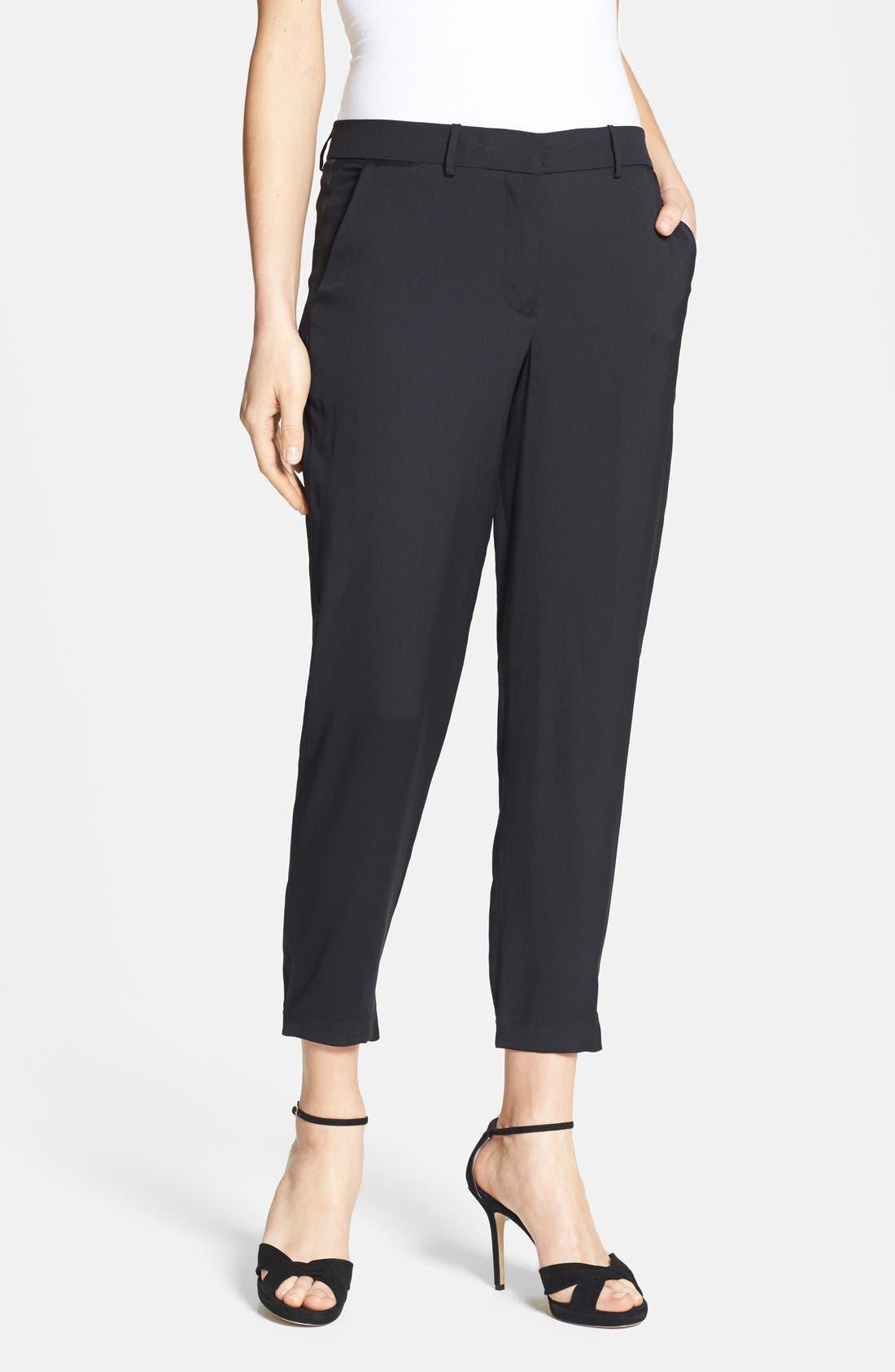 Alternate Image 1 Selected - Halston Heritage Ankle Stretch Silk Pants