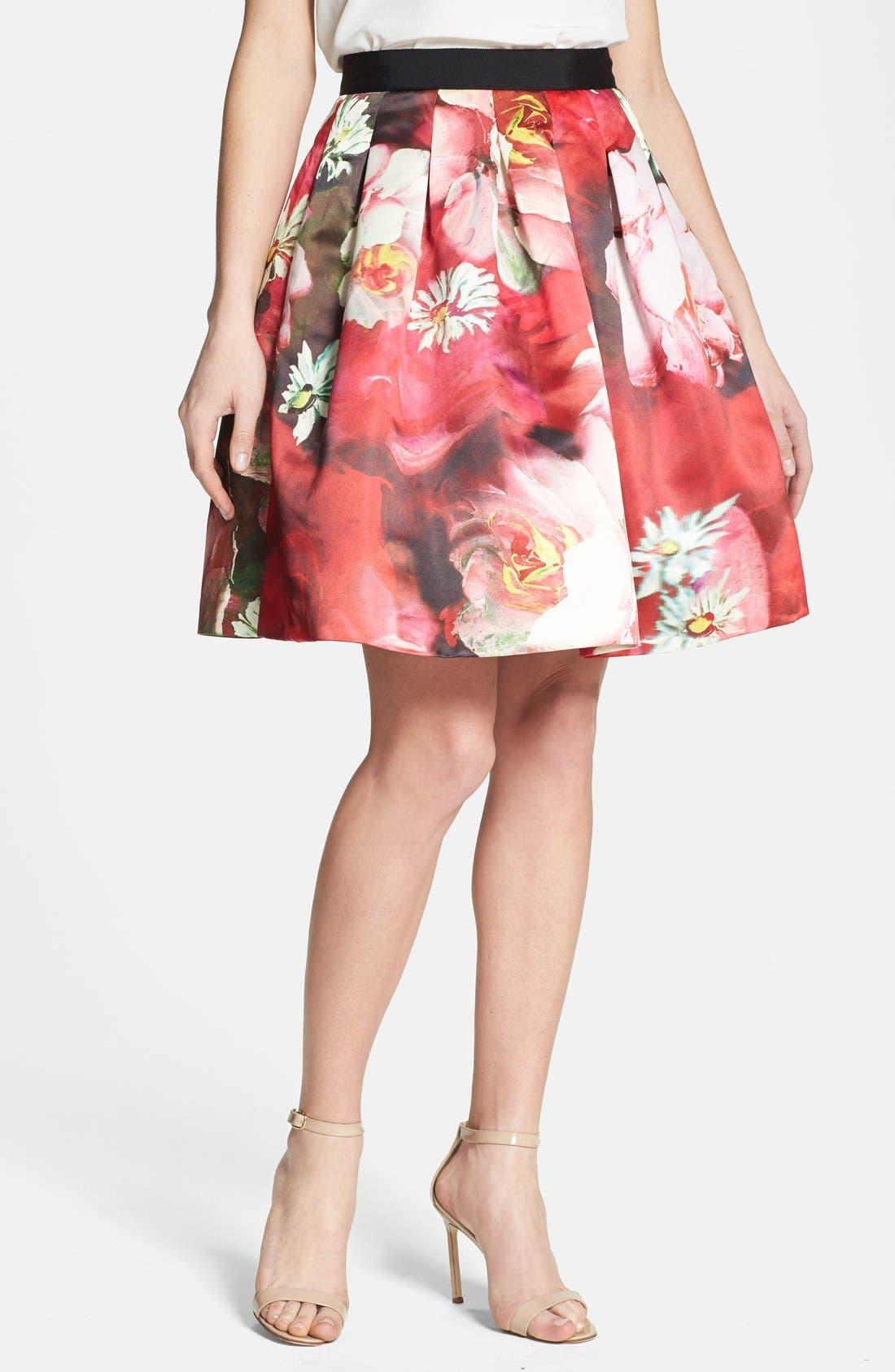 Main Image - Ted Baker London 'Monny - Rose on Canvas' Full Skirt