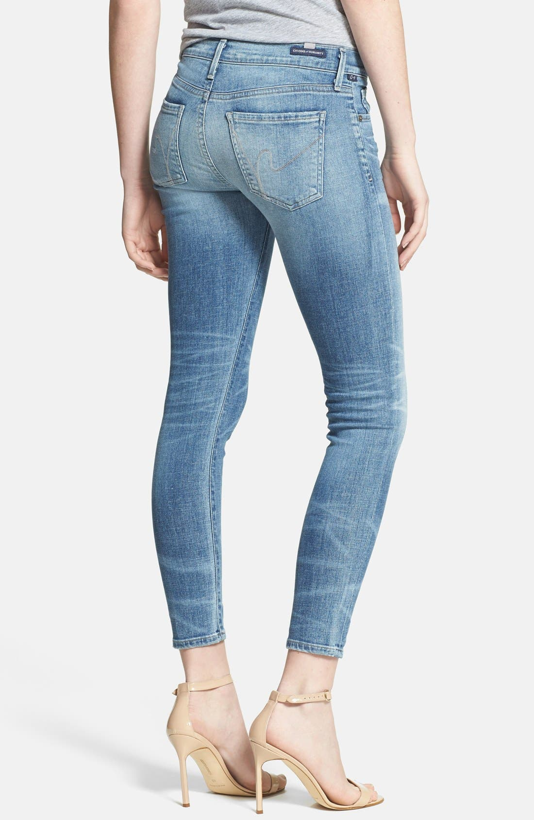 Alternate Image 2  - Citizens of Humanity Whiskered Skinny Ankle Jeans (Belize)