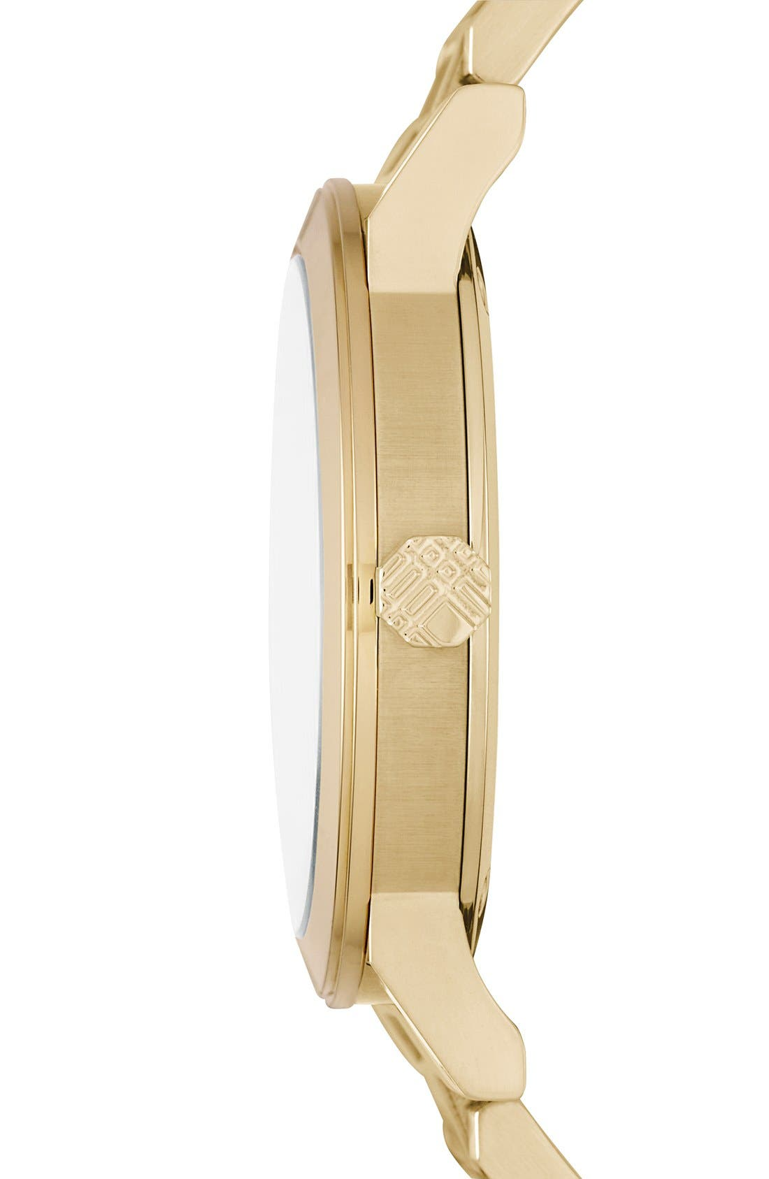 Alternate Image 4  - Burberry Check Stamped Round Bracelet Watch, 38mm