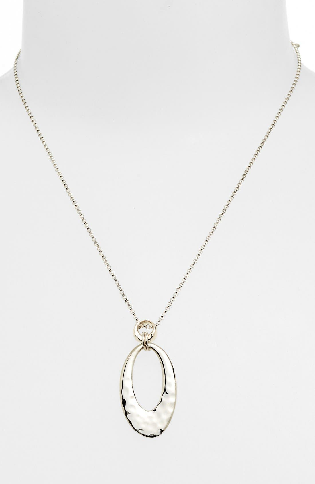 Main Image - Judith Jack 'Oahu' Hammered Oval Pendant Necklace