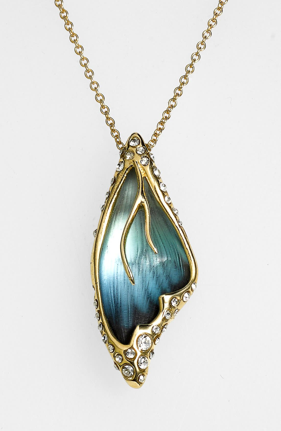 Main Image - Alexis Bittar 'Lucite® - Jardin Mystère' Butterfly Wing Pendant Necklace