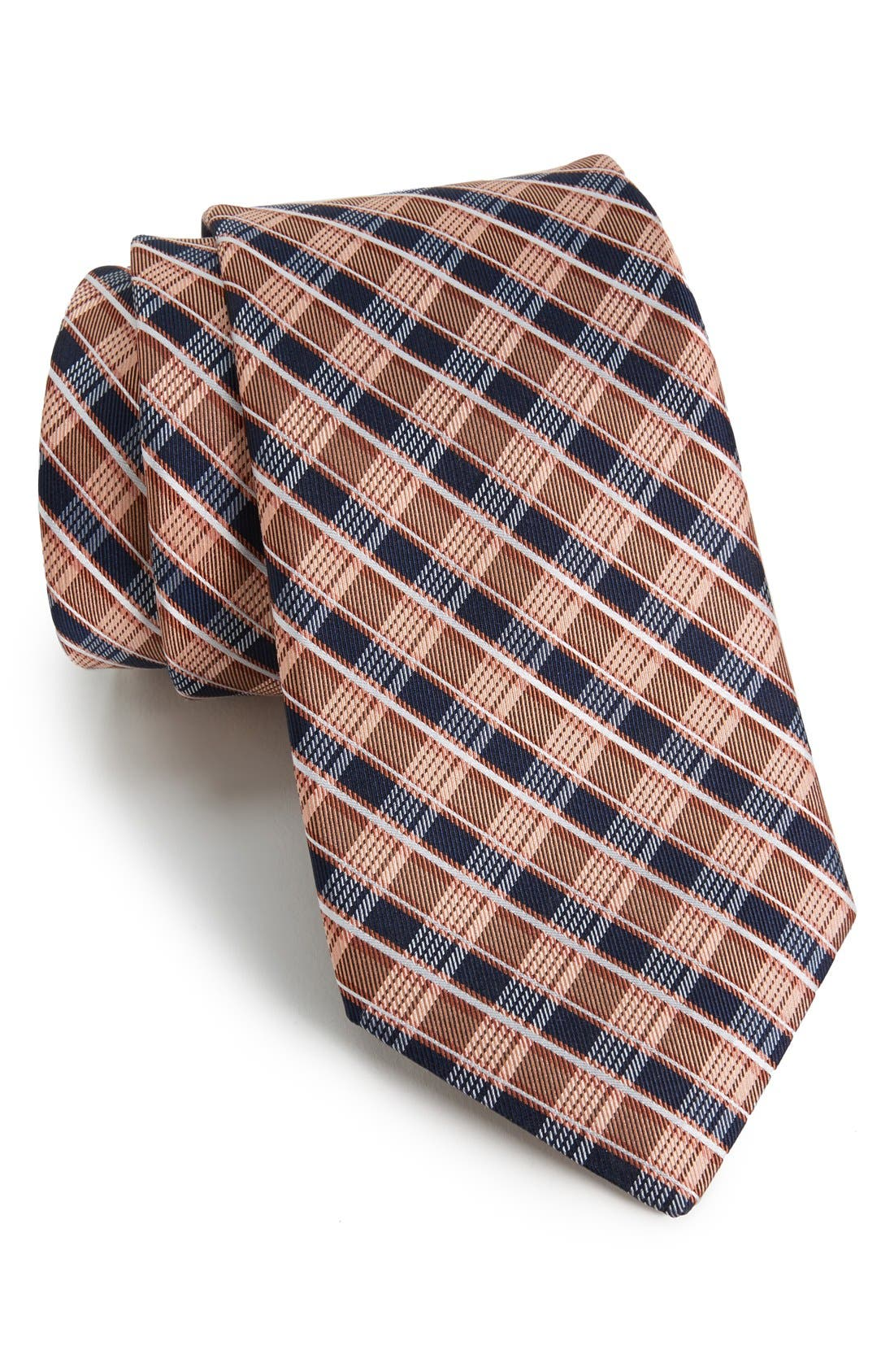 Alternate Image 1 Selected - Michael Kors Plaid Woven Silk Tie