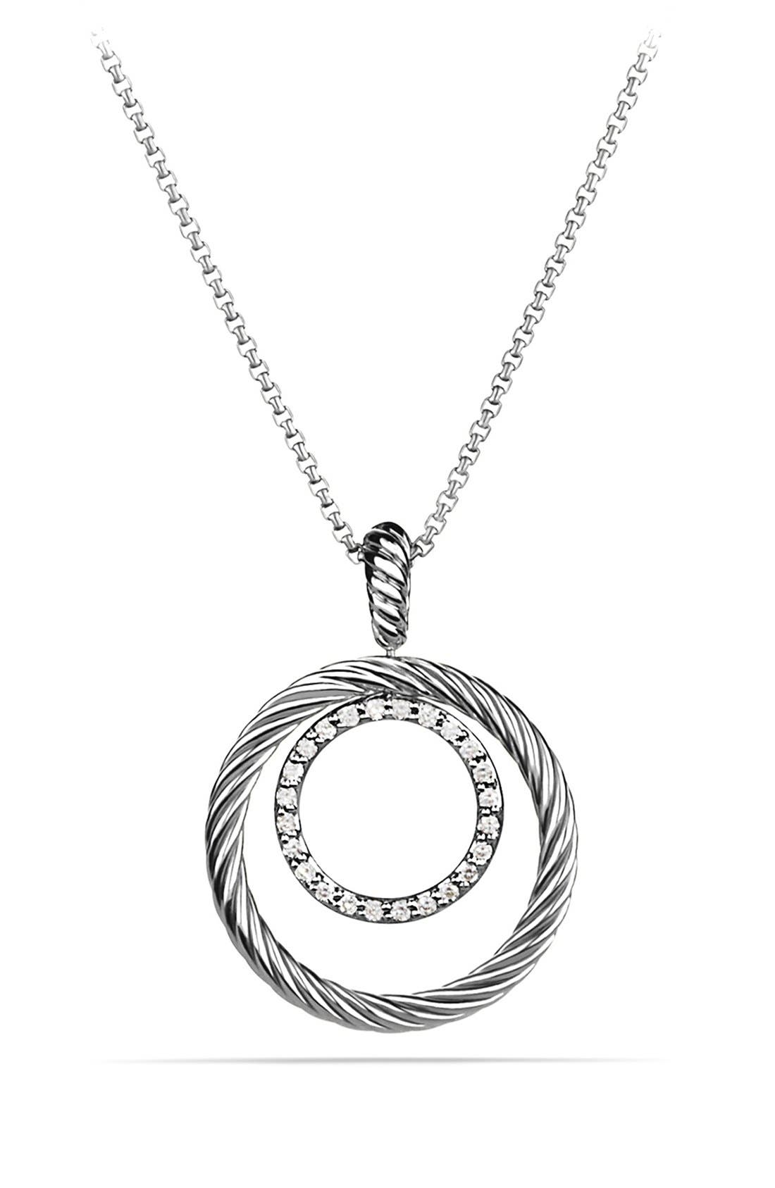 'Mobile' Pendant with Diamonds on Chain,                         Main,                         color, Diamond