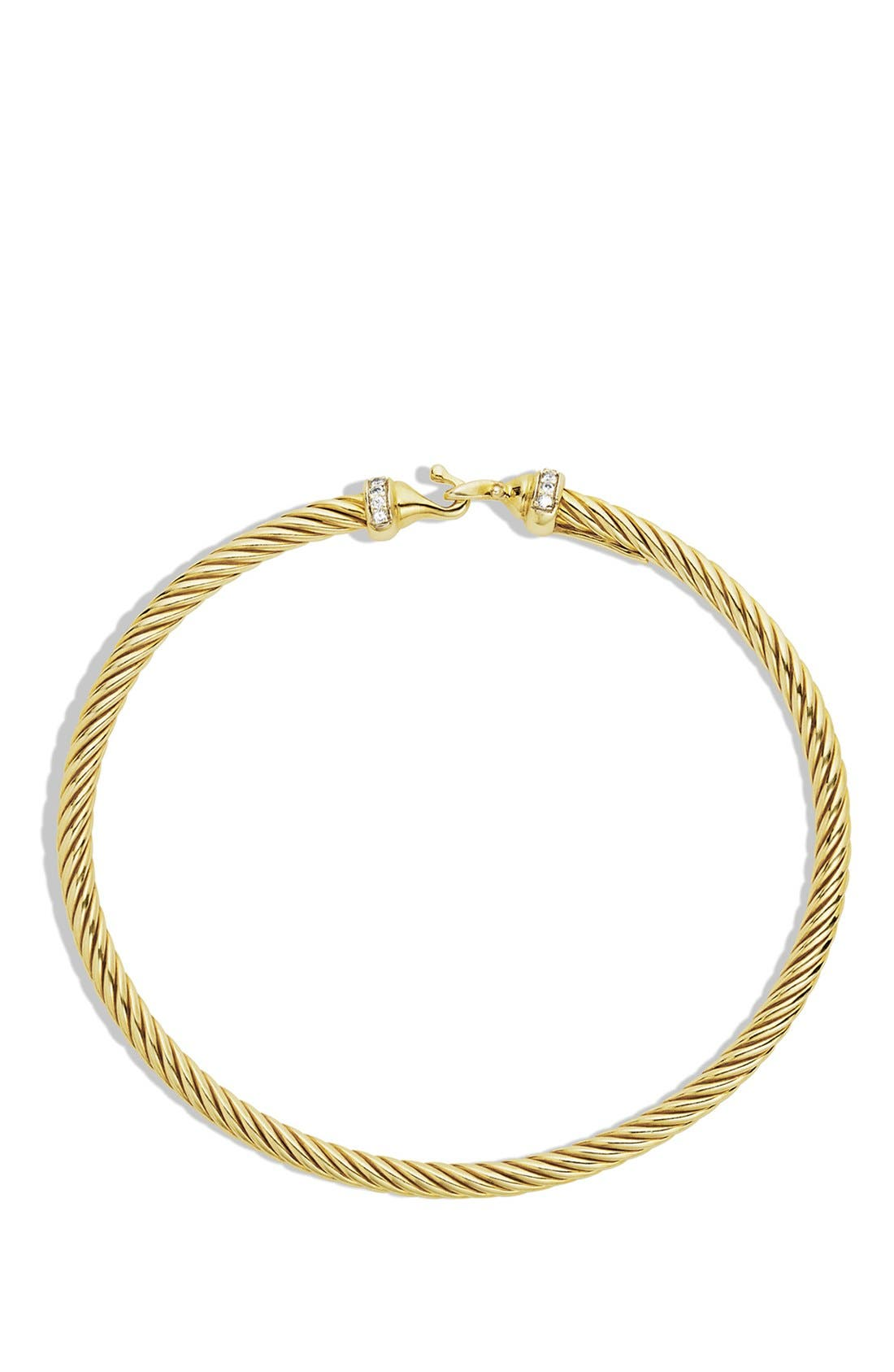 Alternate Image 2  - David Yurman 'Cable Buckle' Bracelet with Diamonds in Gold