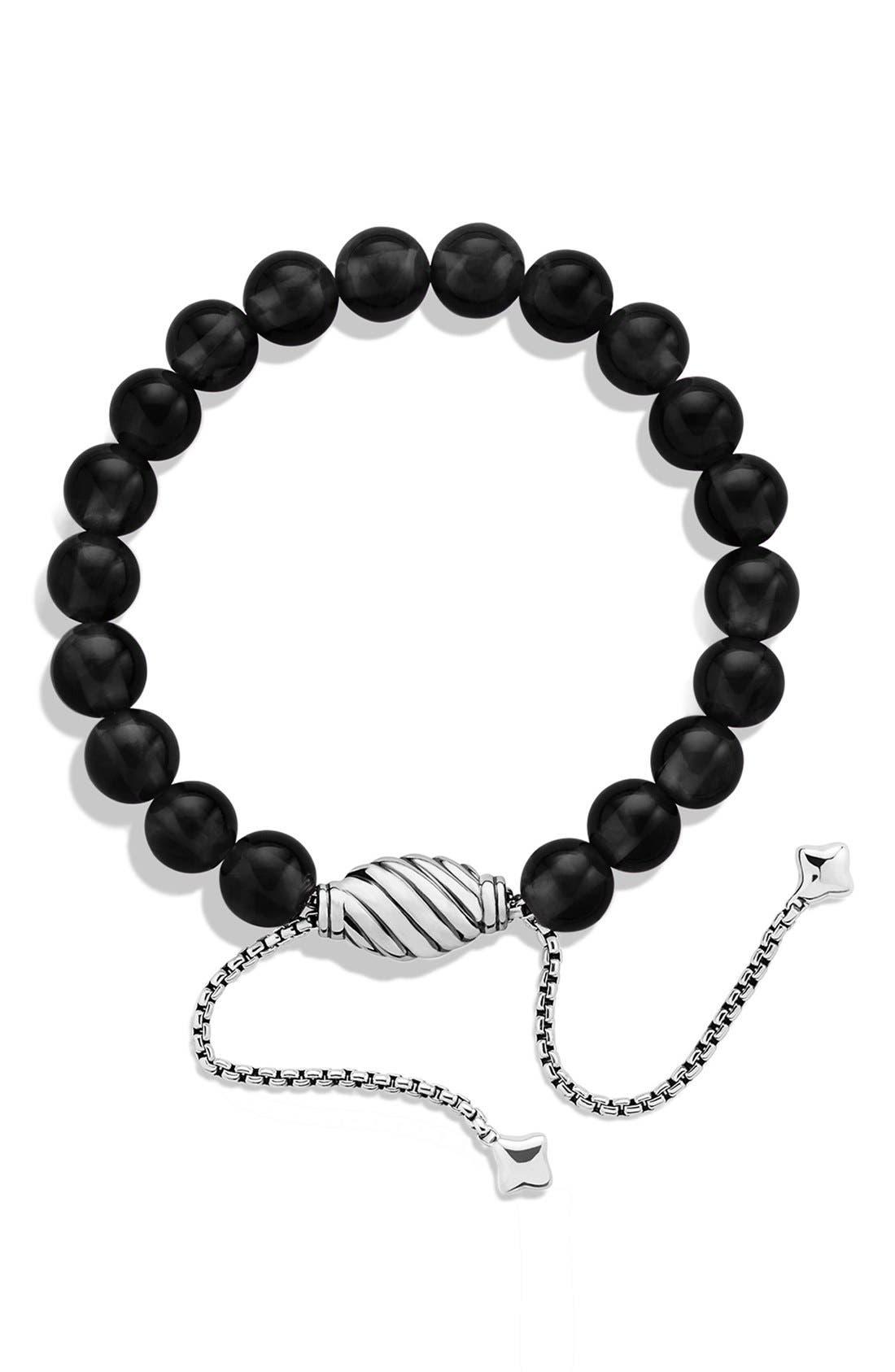'Spiritual Beads' Bracelet,                             Alternate thumbnail 2, color,                             Black Onyx