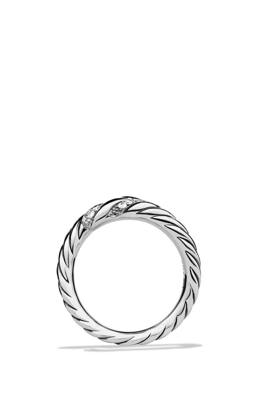 Alternate Image 2  - David Yurman 'Willow' Open Single Row Ring with Diamonds