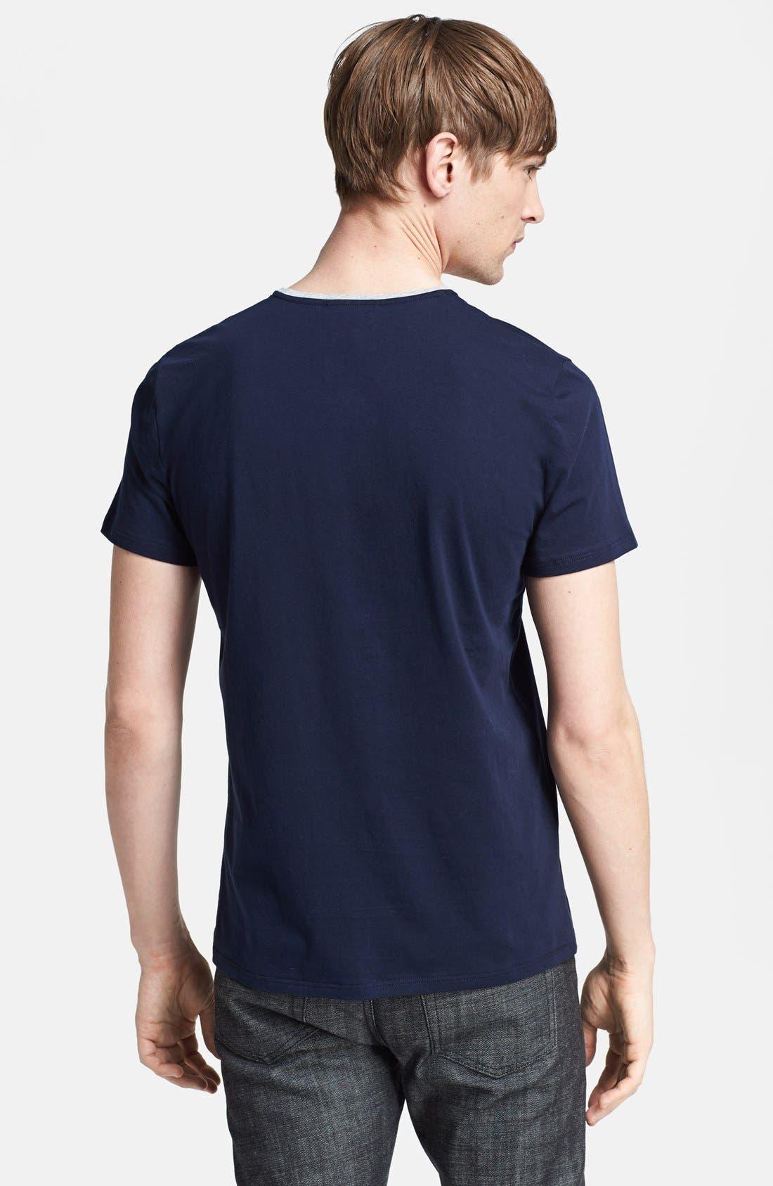 Alternate Image 2  - The Kooples Logo Embroidered Pocket V-Neck T-Shirt