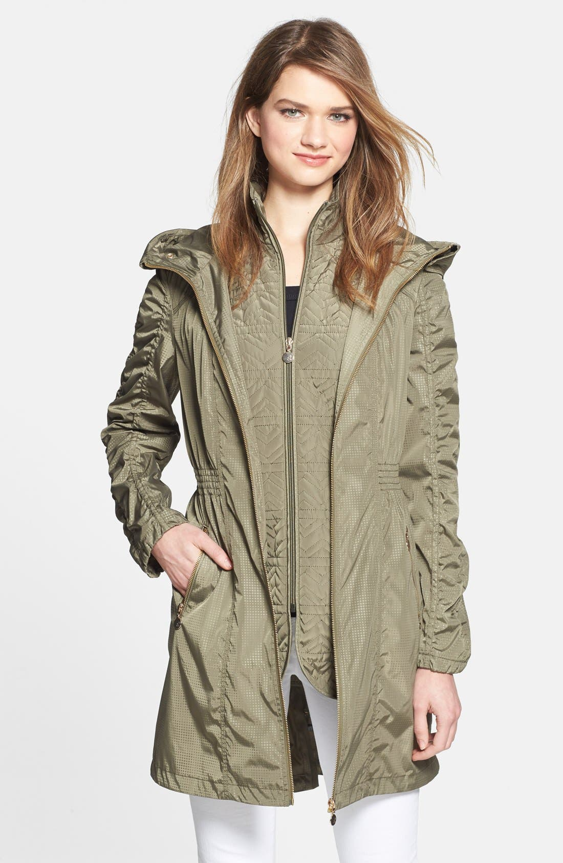 Alternate Image 1 Selected - AB Hooded Anorak with Removable Vest