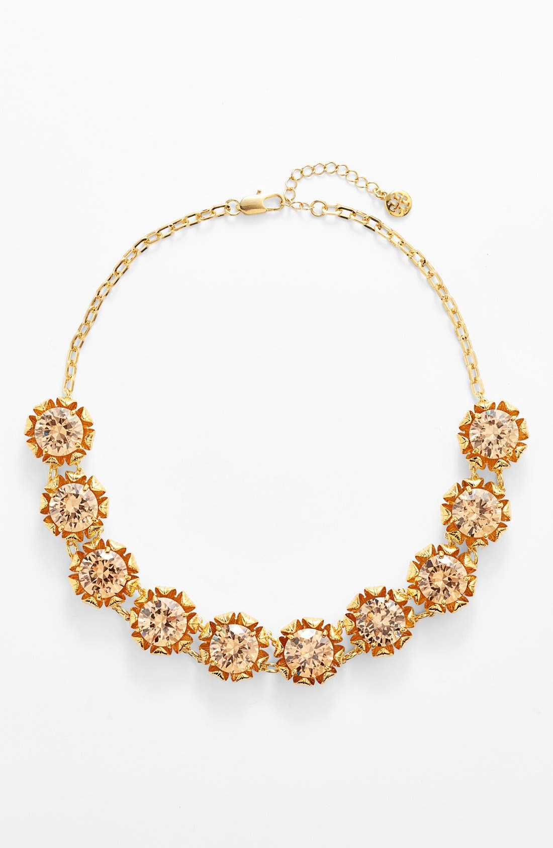 Alternate Image 2  - Tory Burch 'Leah' Crystal Floral Necklace