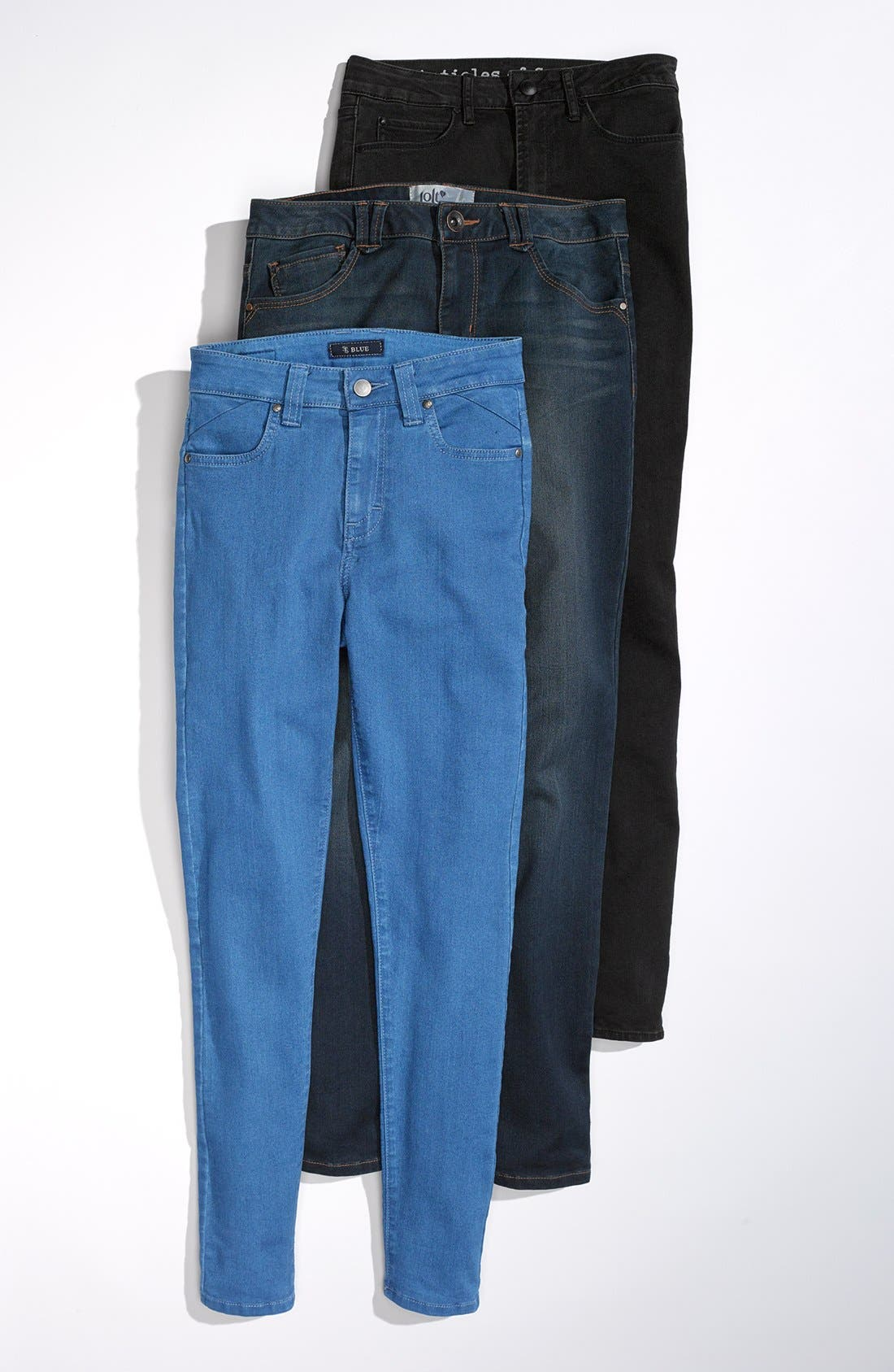 Alternate Image 5  - STS Blue High Waist Skinny Jeans (Dark) (Juniors)
