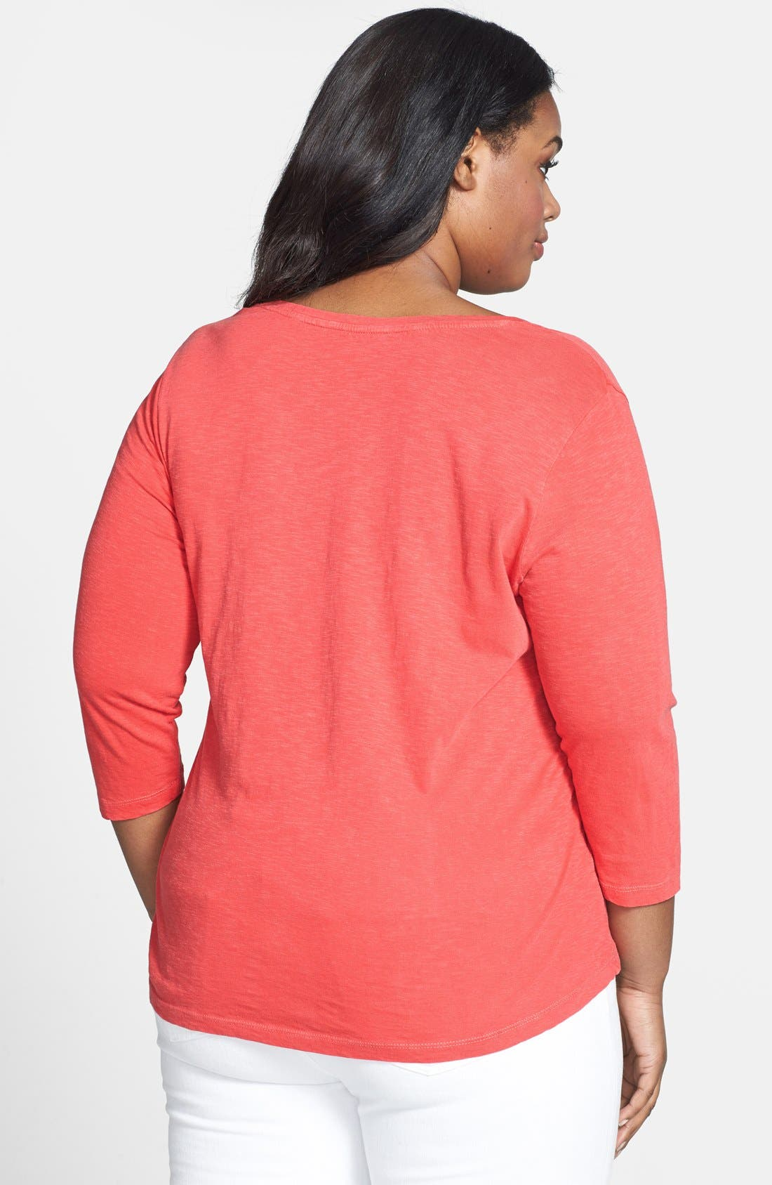 Alternate Image 2  - Lucky Brand Overdyed Soutache Tee (Plus Size)