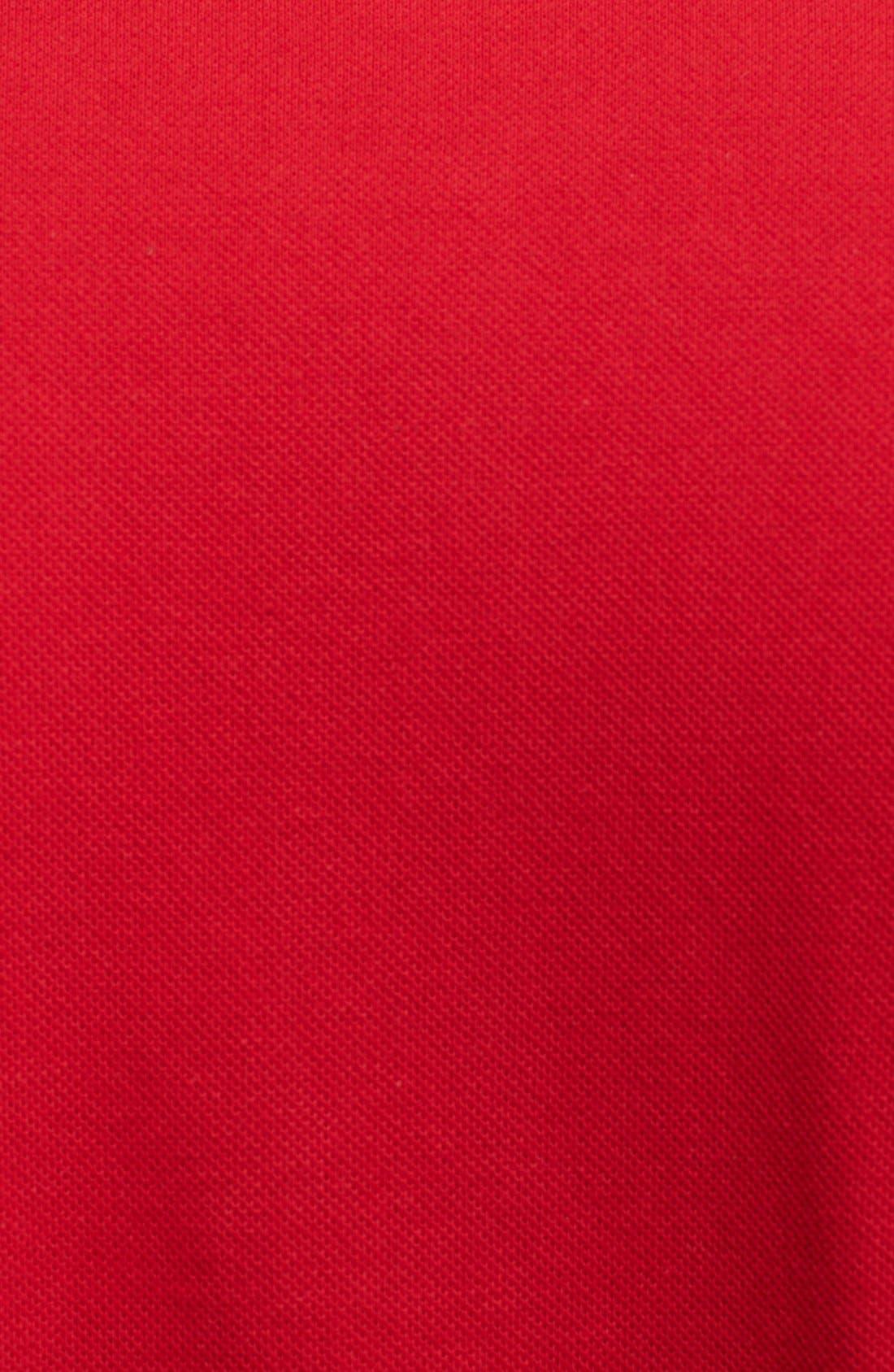 Comme des Garçons PLAY Piqué Polo with Heart Appliqué,                             Alternate thumbnail 3, color,                             Red