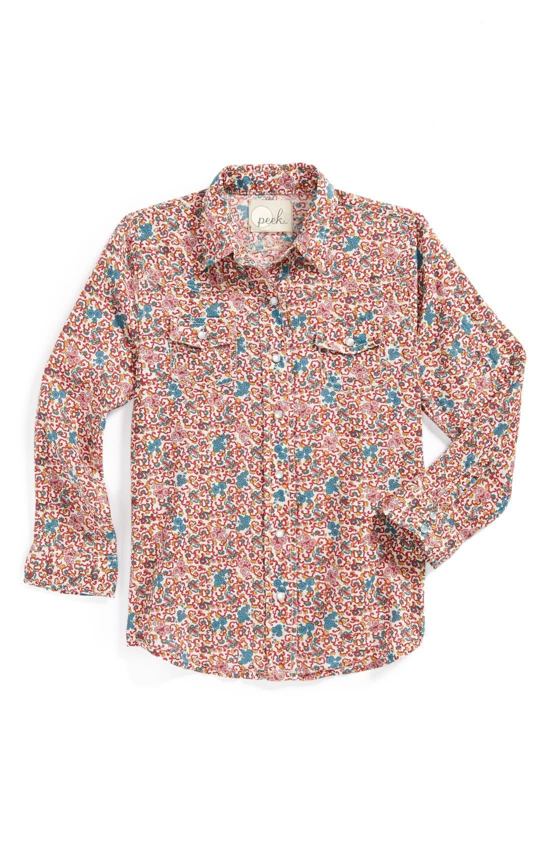 Main Image - Peek Shirt & Jeans (Toddler Girls, Little Girls & Big Girls)
