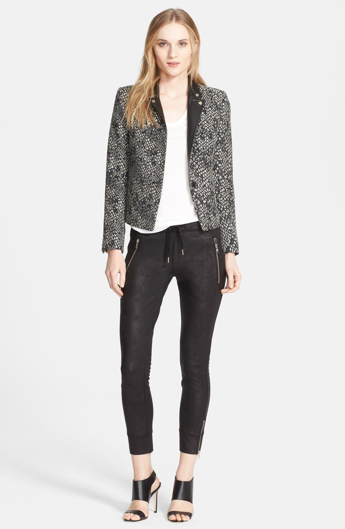 Alternate Image 3  - The Kooples 'Peau de Bête' Leather Trim Jacquard Jacket