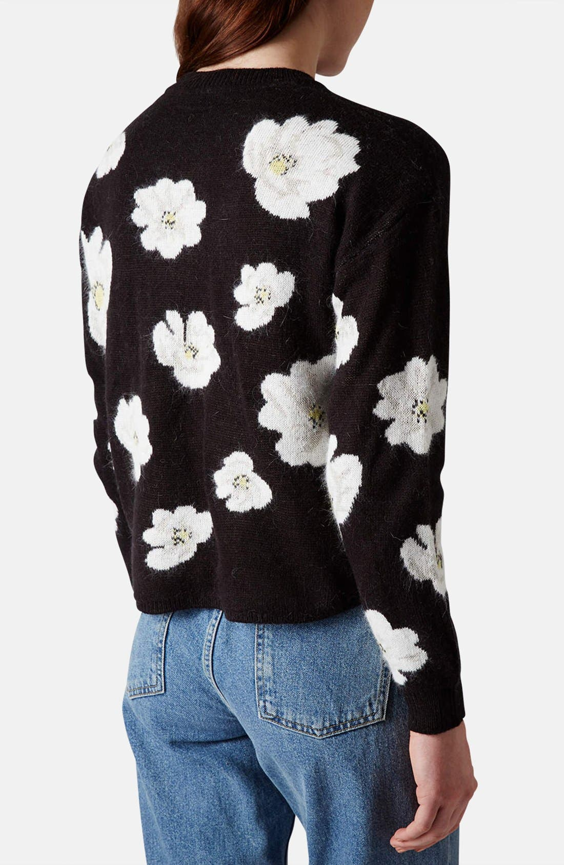 Alternate Image 2  - Topshop Daisy Jacquard Sweater