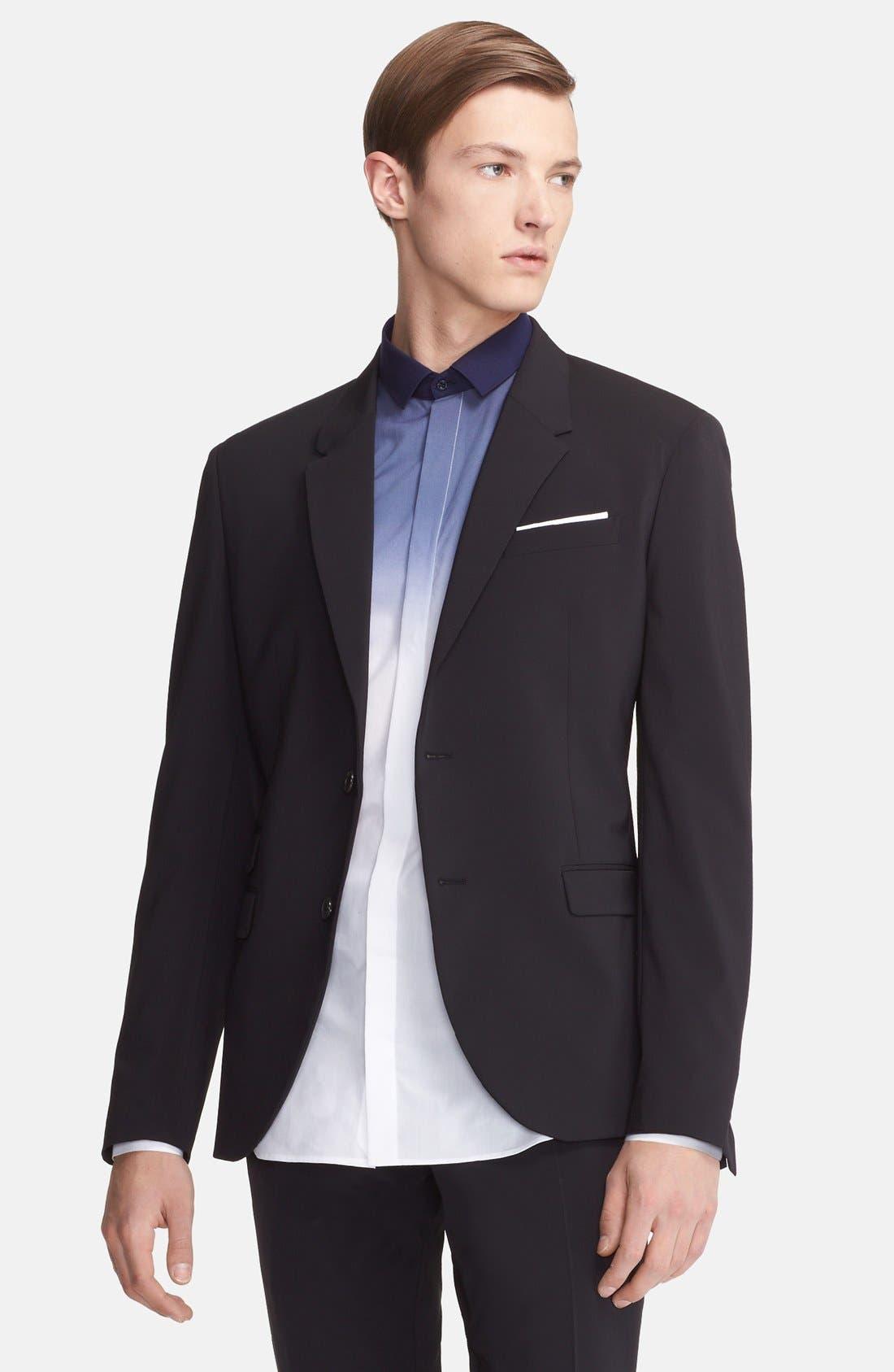 Alternate Image 3  - Neil Barrett Slim Fit Techno Stretch Suit