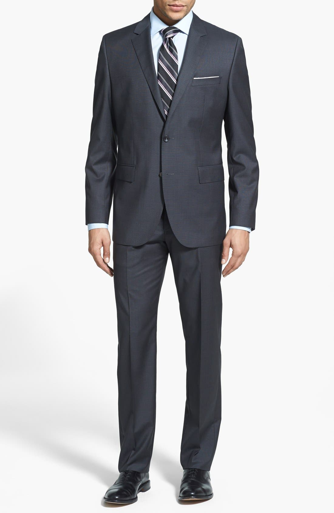 Alternate Image 1 Selected - BOSS HUGO BOSS 'Keys/Shaft' Trim Fit Wool Suit